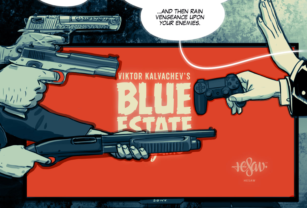 Rail shooter Blue Estate will use DualShock gyroscope controls, creator says