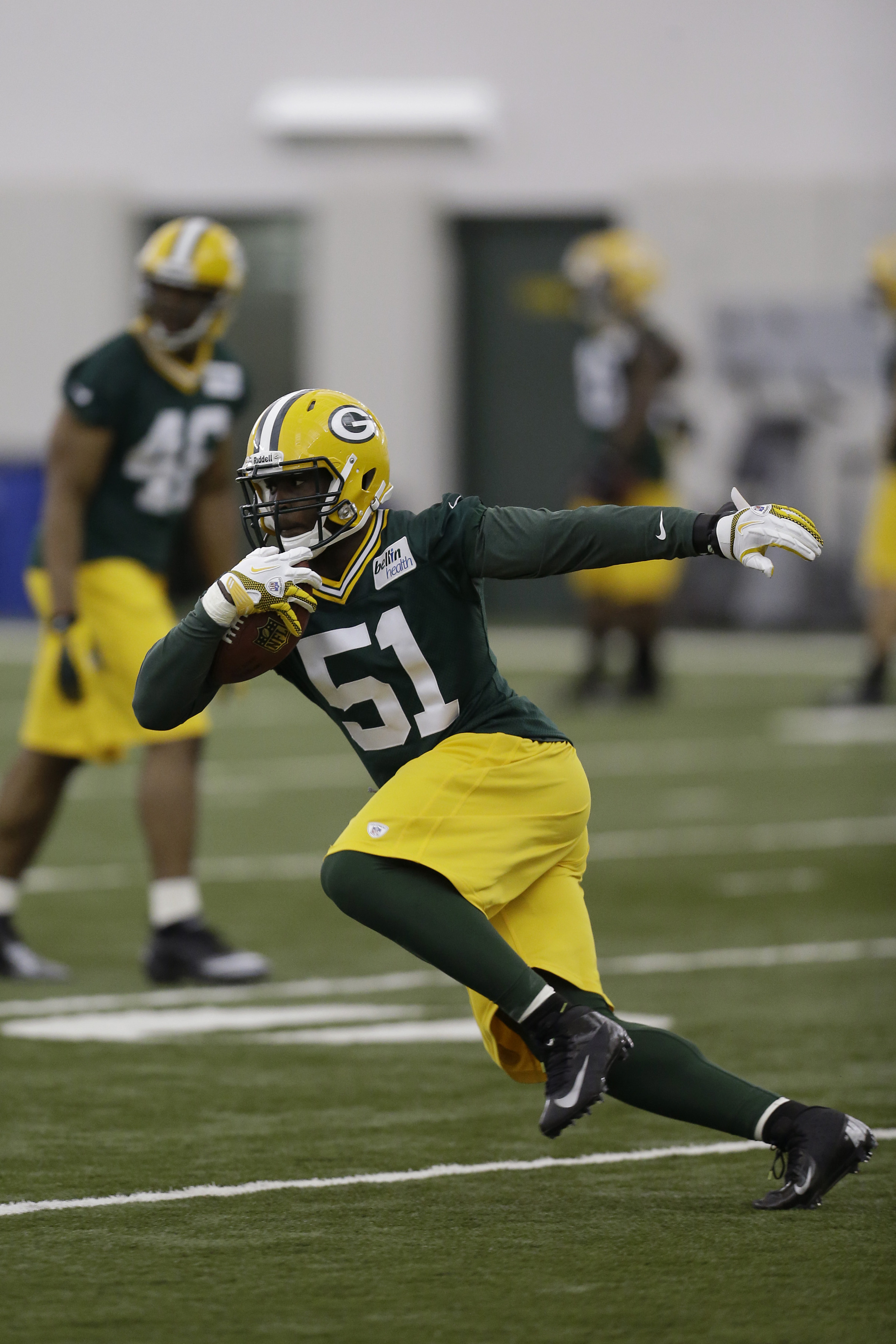 Packers OLB Nate Palmer during the 2013 offseason