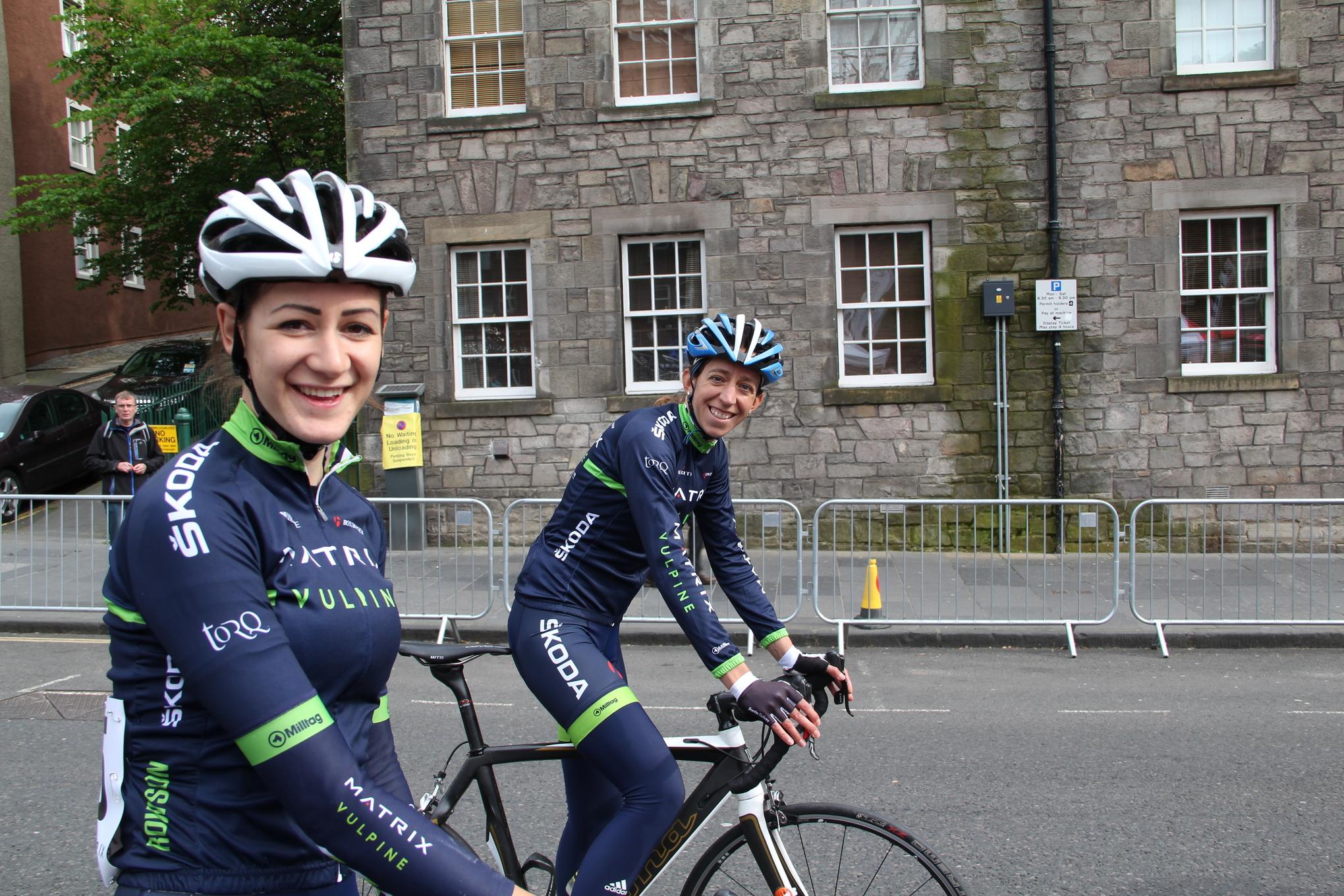 Penny Rowson and Helen Wyman before the Edinburgh Tour Series