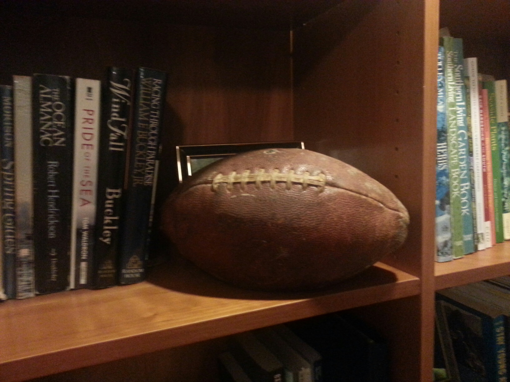 Game ball from GT-Alabama game in 1962