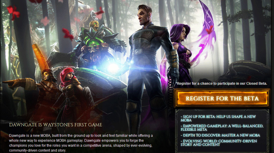 Dawngate is EA's latest unannounced MOBA game