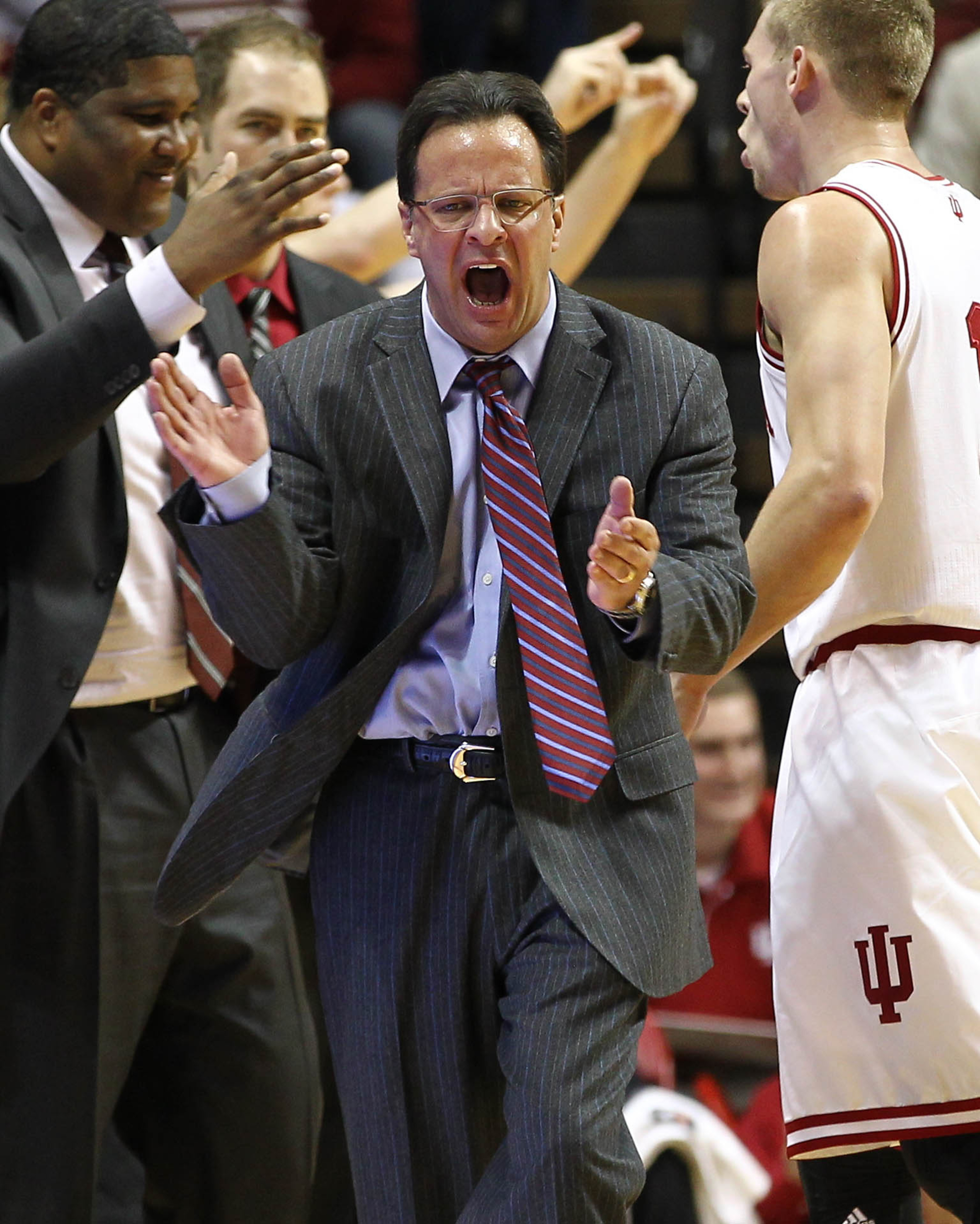 Indiana doesn't have a mascot, so here's Tom Crean and friends.
