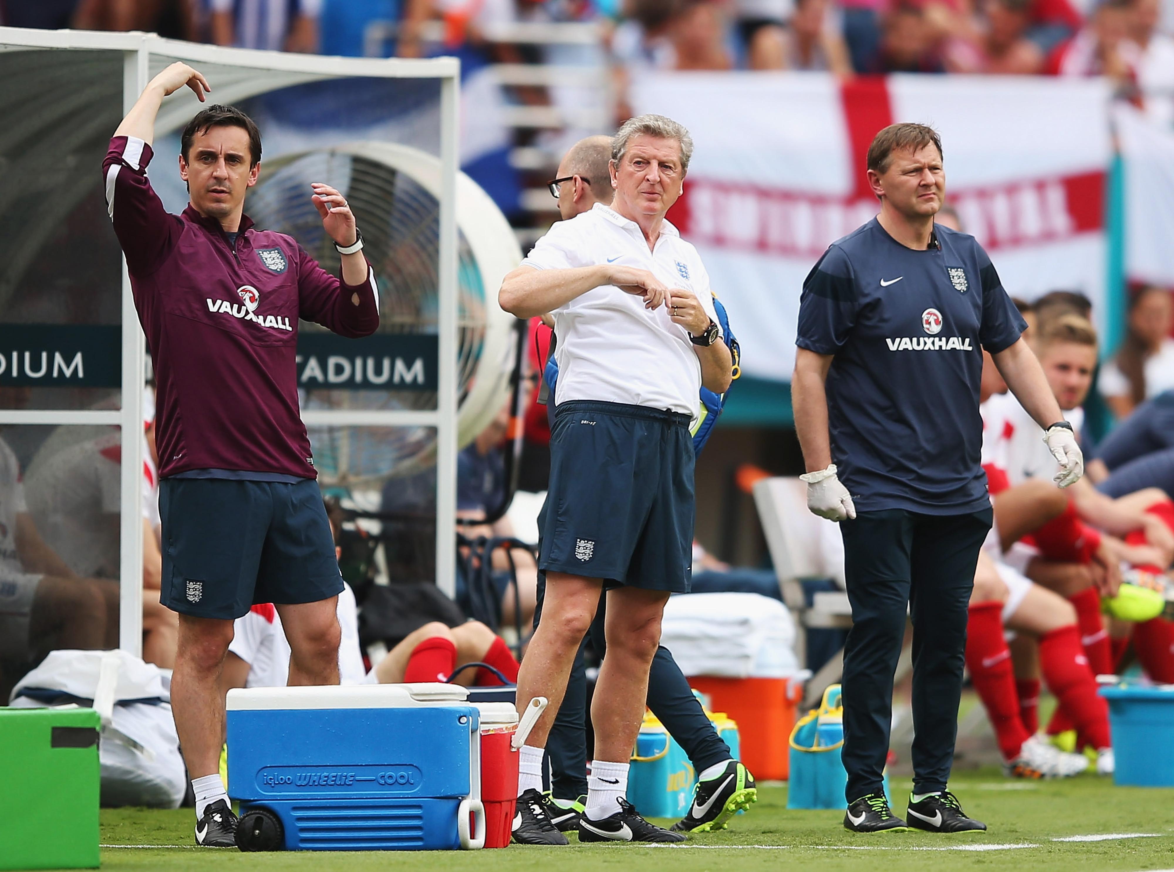 England physio Gary Lewin injured celebrating goal