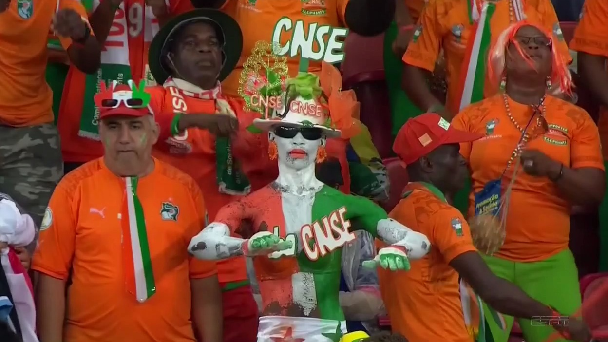 Ivory Coast rivaling Japan for most ridiculous fans