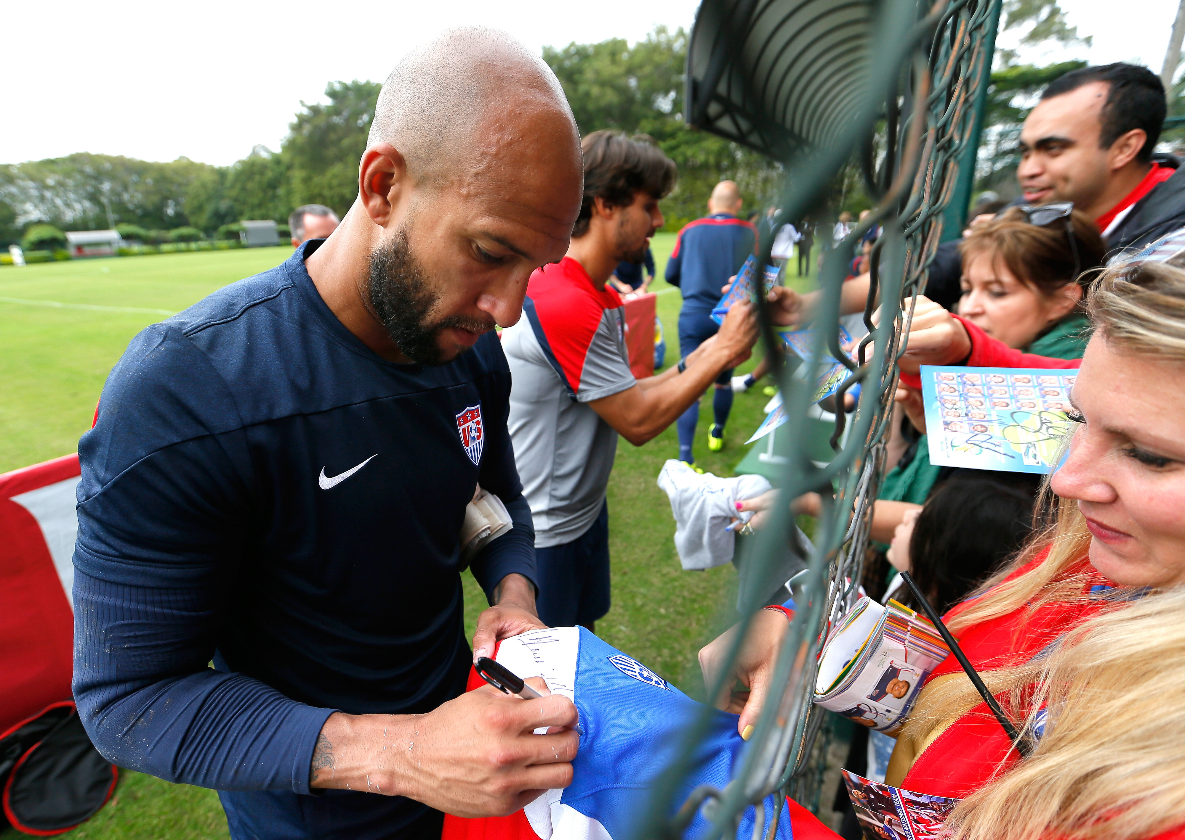Tim Howard leads the Stars and Stripes in their opening match against Ghana.