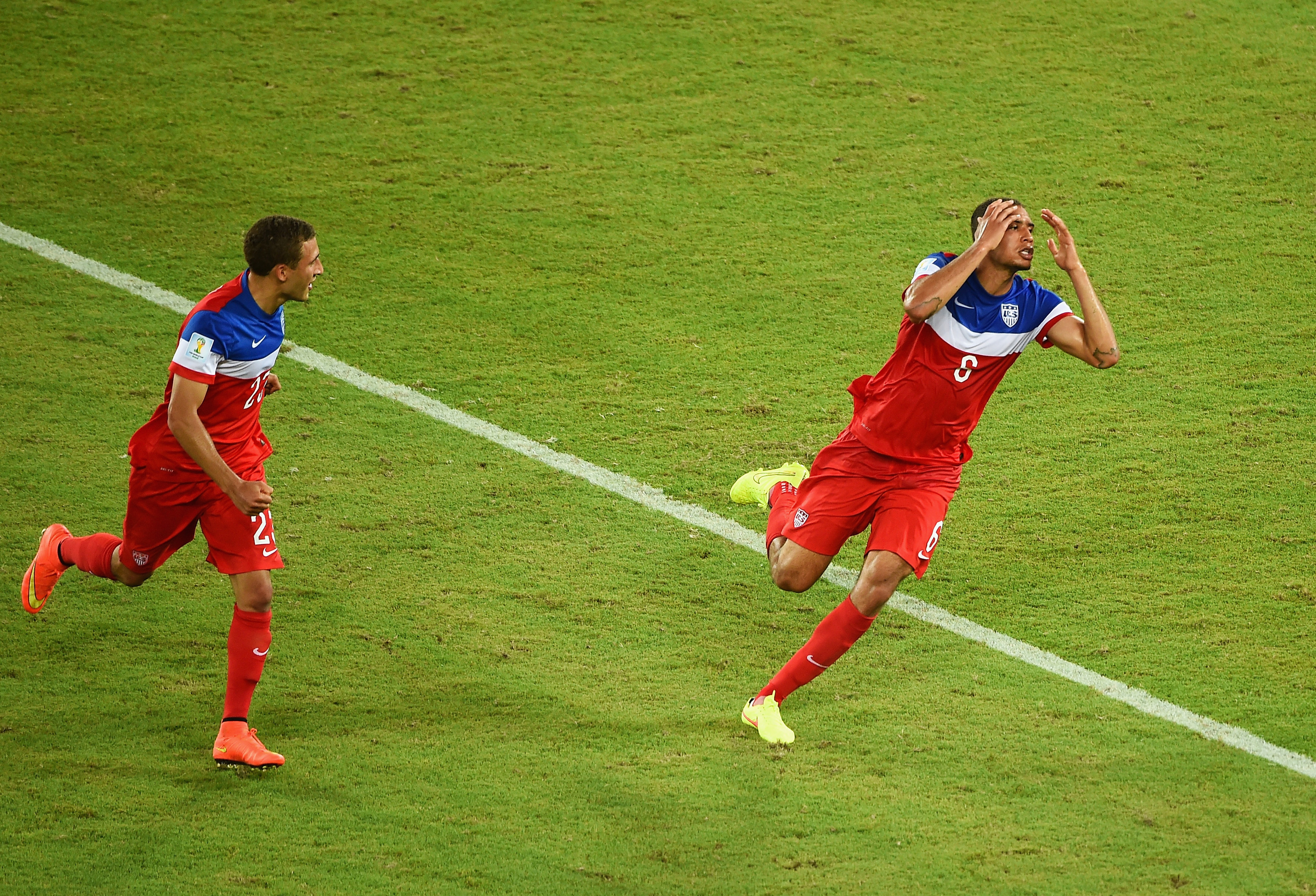 John Anthony Brooks looks as surprised as the rest of us after scoring the game-winner against Ghana.