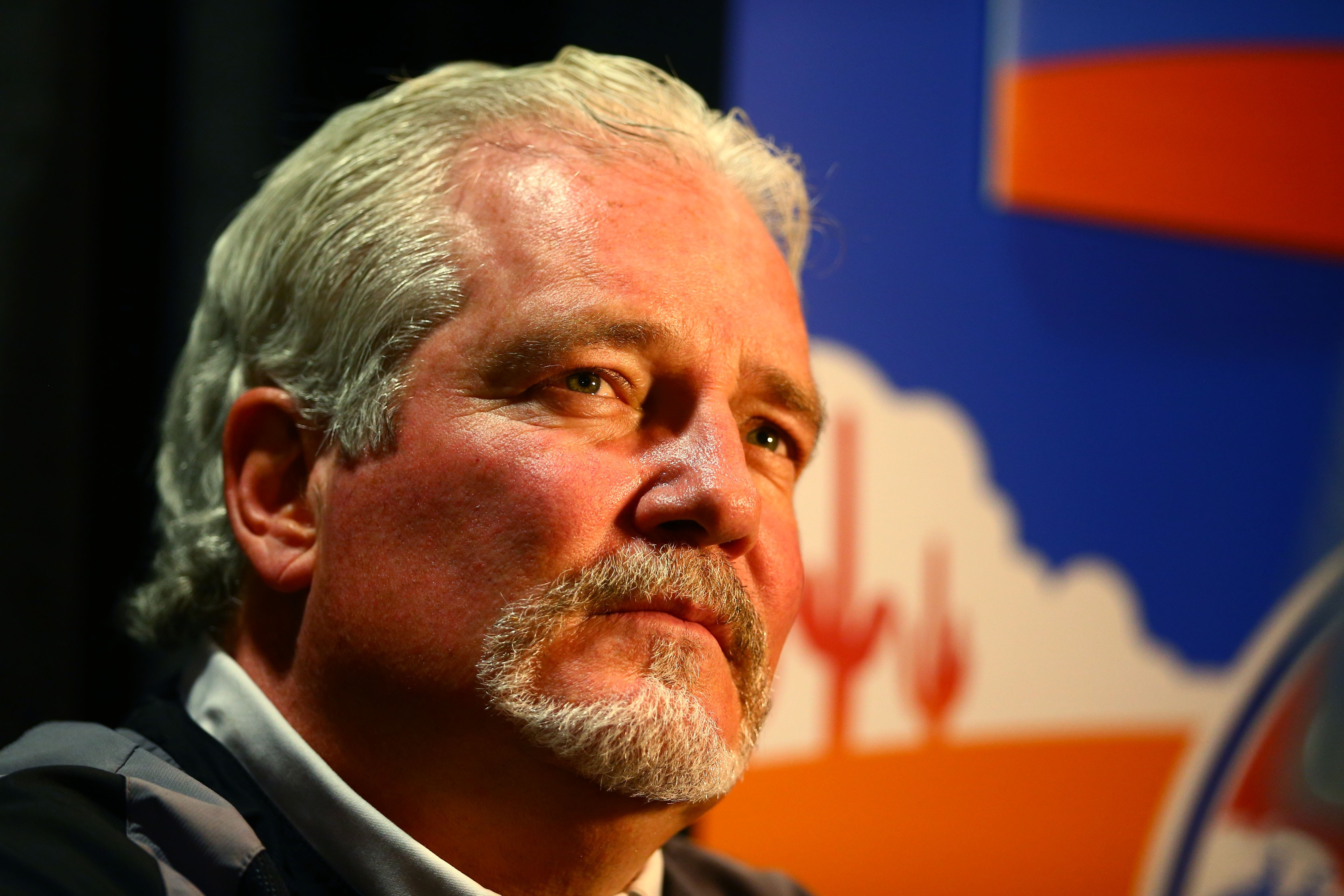 Giants general manager Brian Sabean, perhaps contemplating his next move