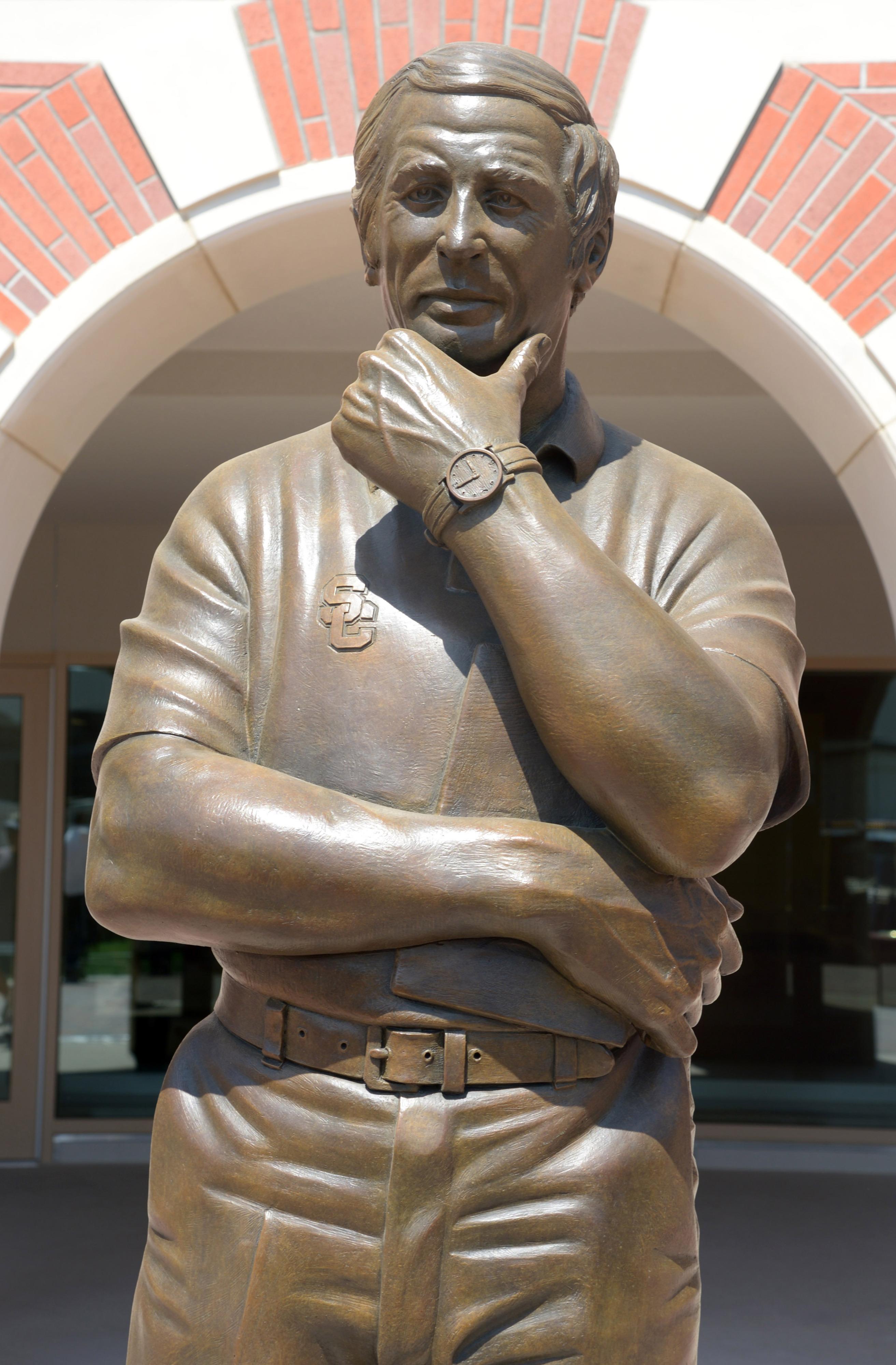 John McKay's statue at USC.