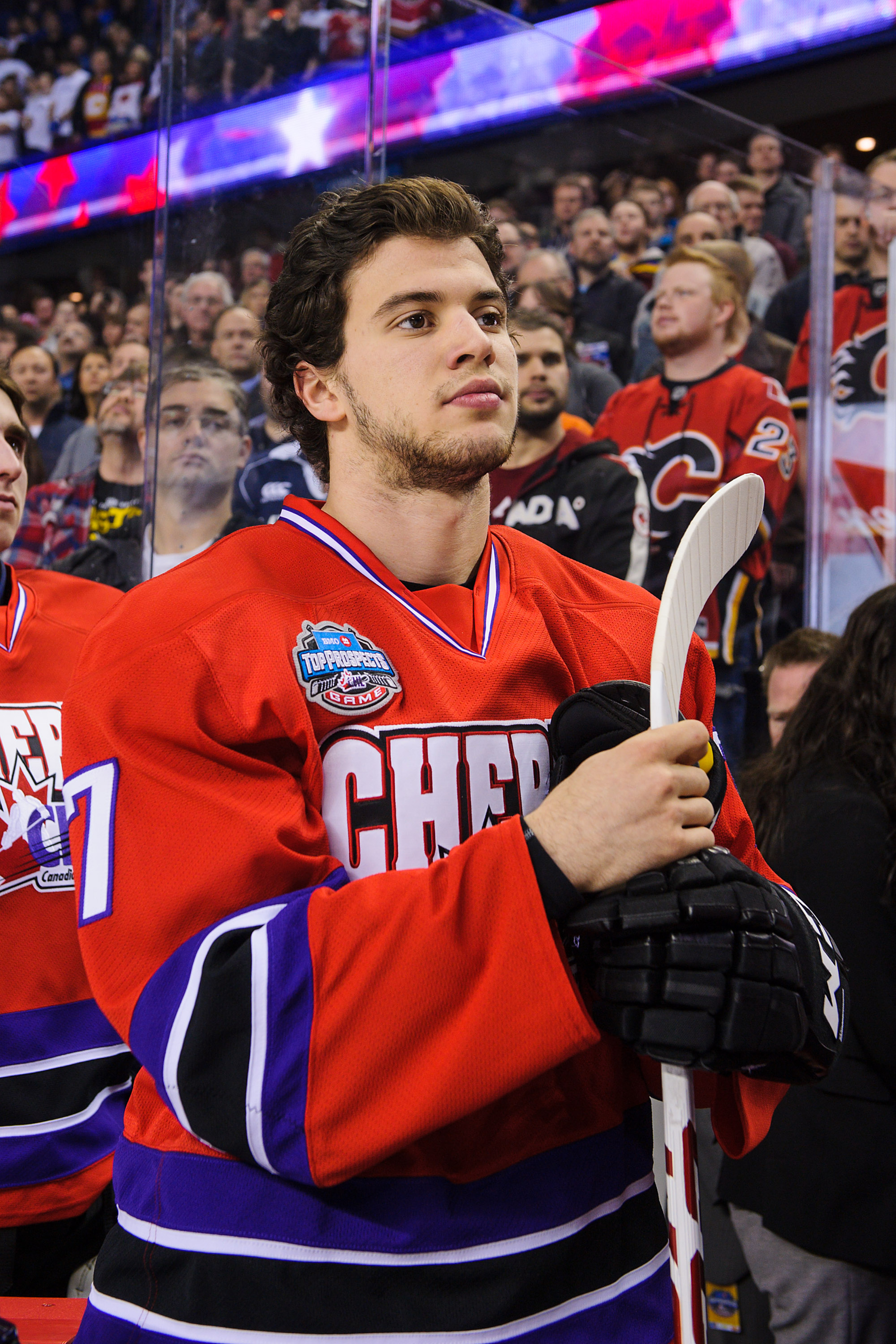 Anthony DeAngelo, one of the most written about prospects in this year's draft.  And not for good things, either.