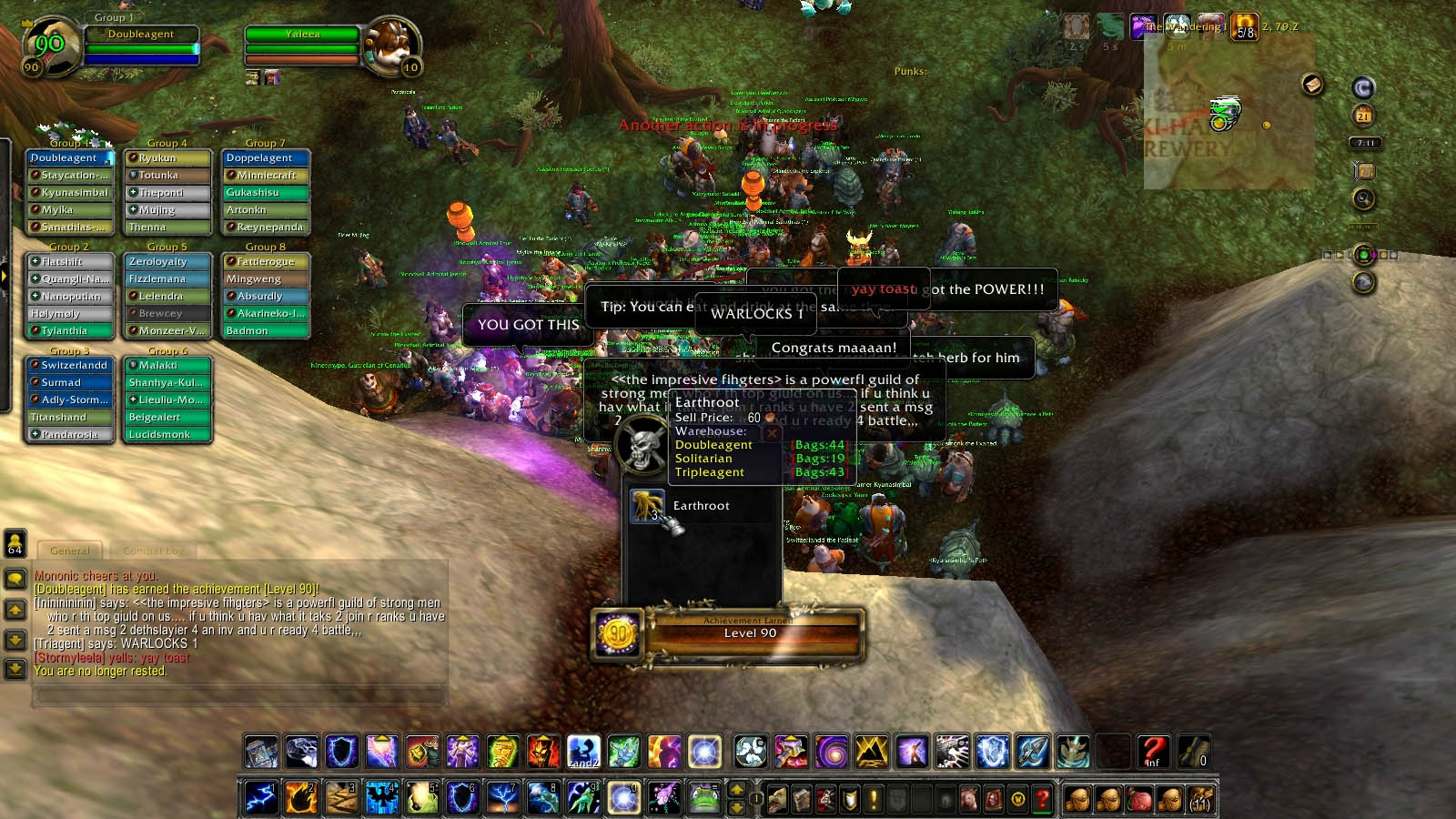 World of Warcraft player makes the longest, slowest grind to level 90
