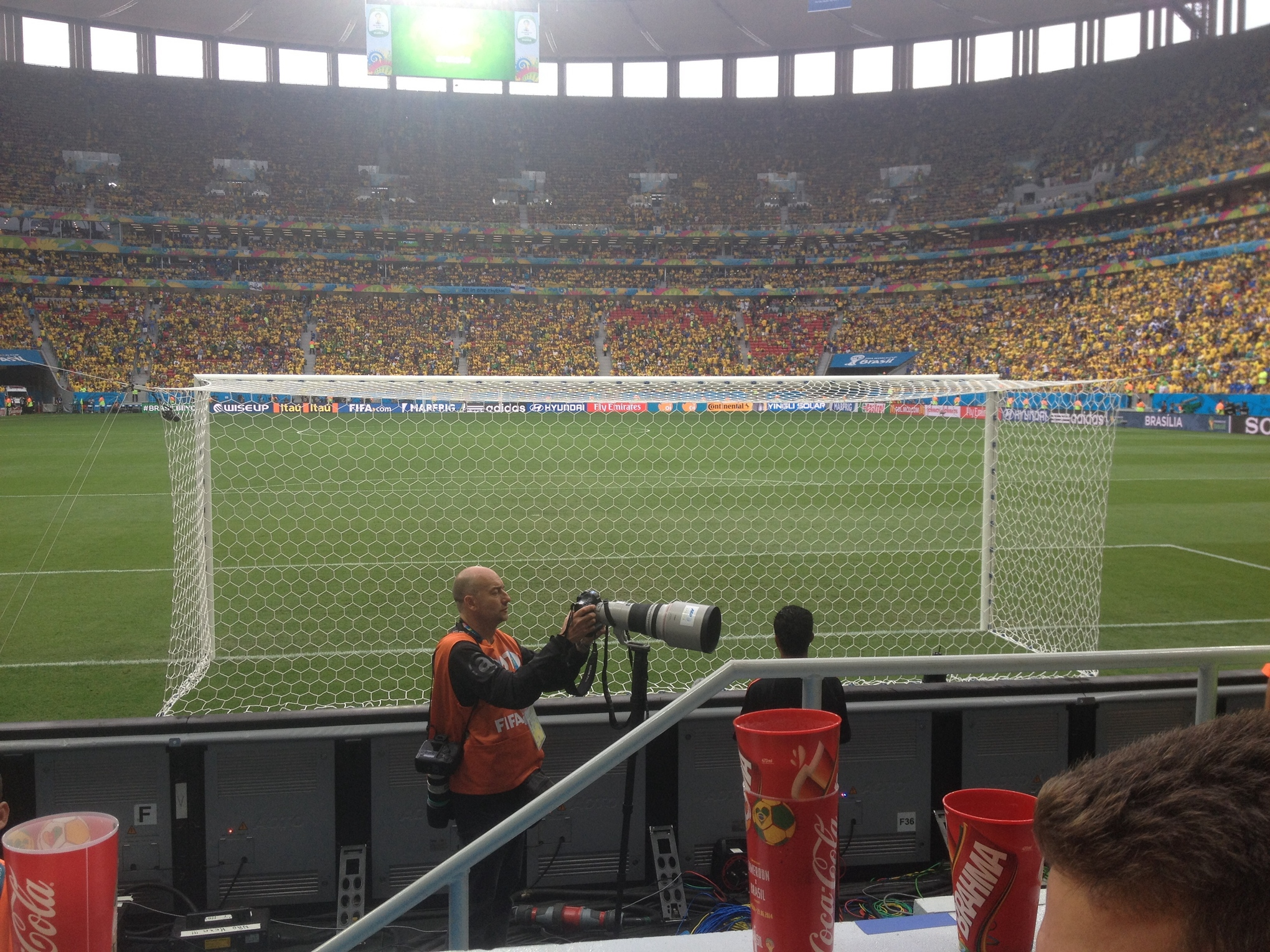I almost felt bad to have this seat and view as an American surrounded by passionate fans of one of the best soccer nations on Earth.