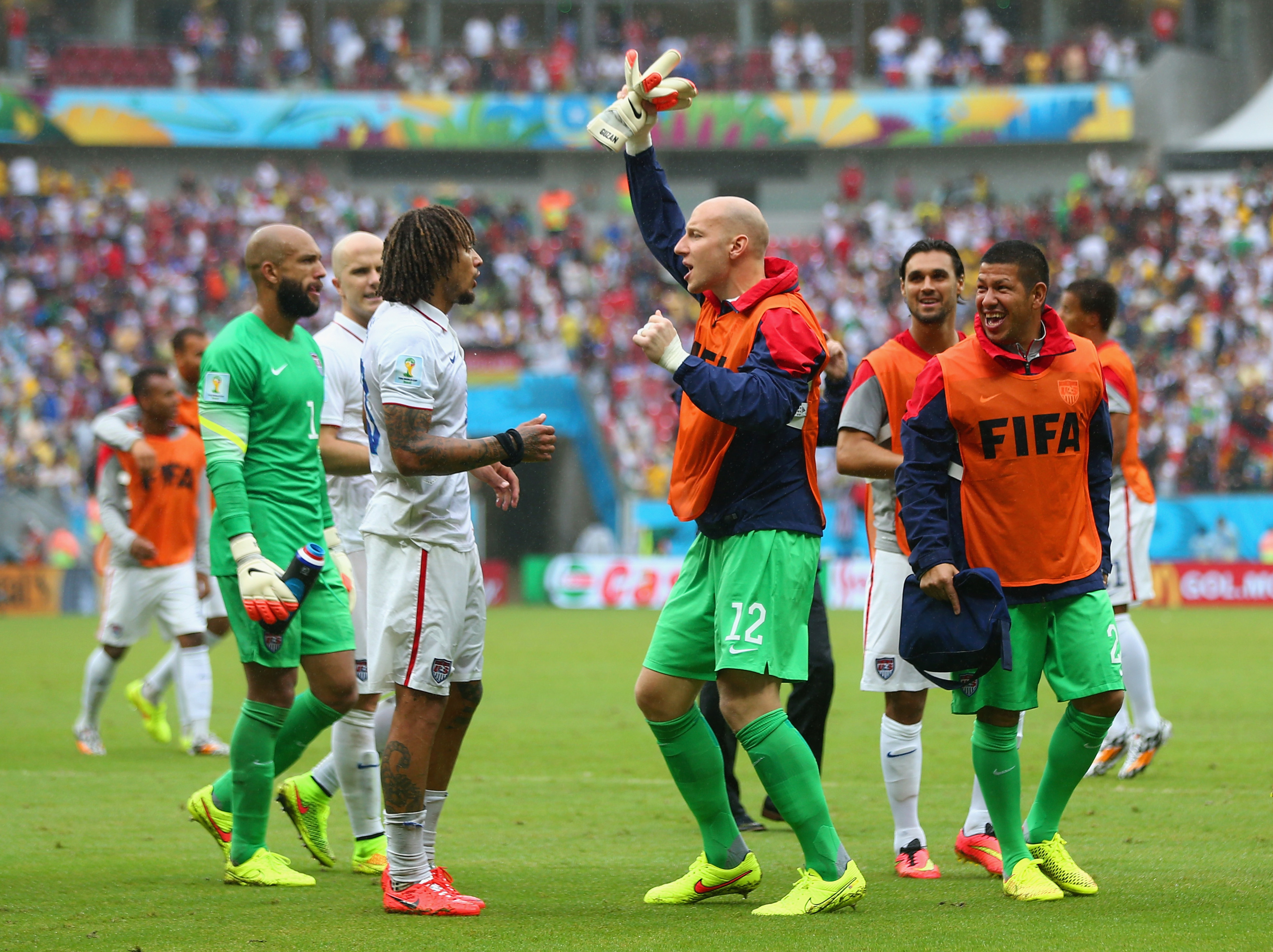 Guzan: Celebrating as the USMNT get at least one more game.