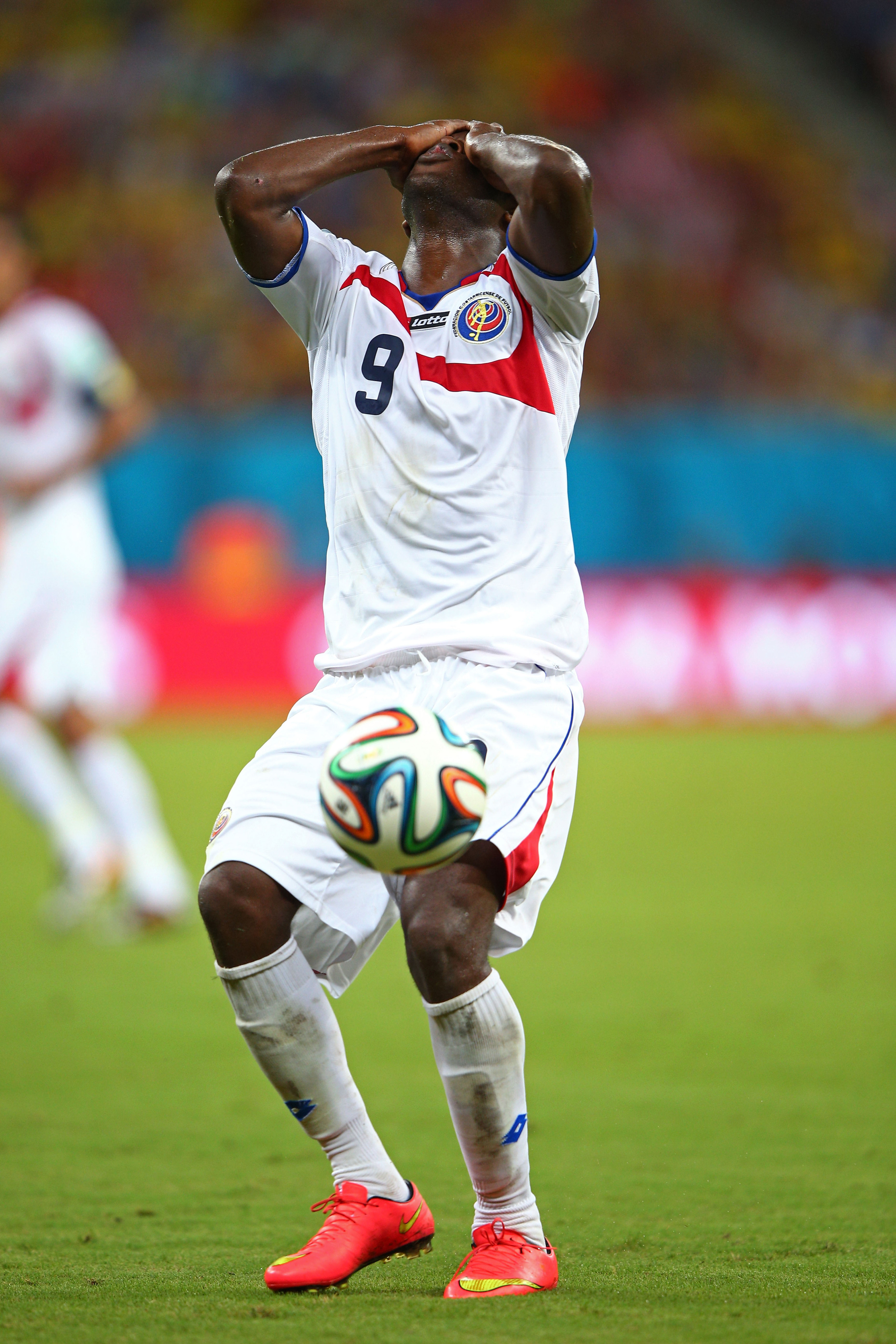 Joel Campbell would like a new pair of legs, please.
