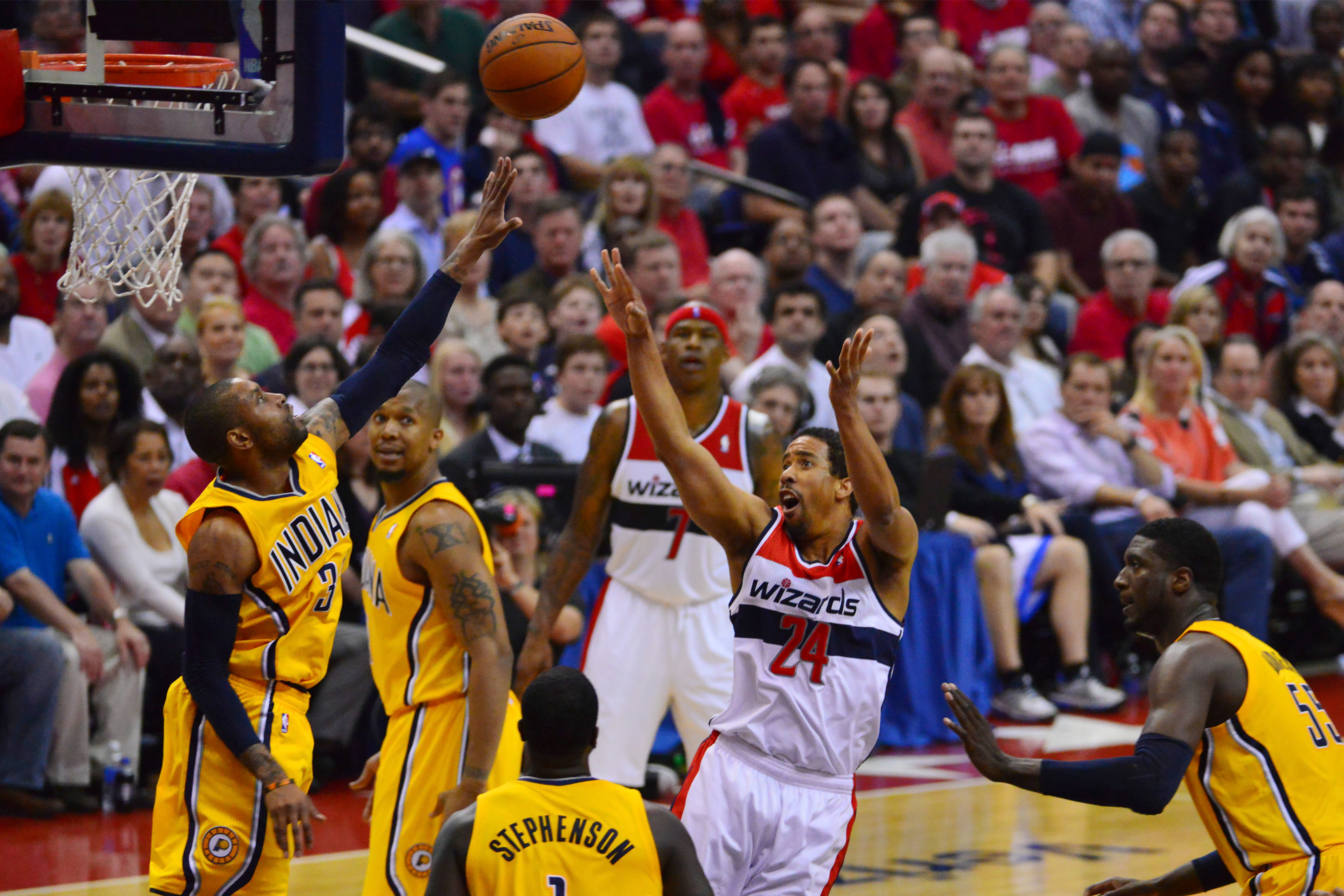 Former Runnin' Utes point guard Andre Miller (24), now with the Washington Wizards of the NBA, is a definite candidate for Utah's Mount Rushmore of basketball.