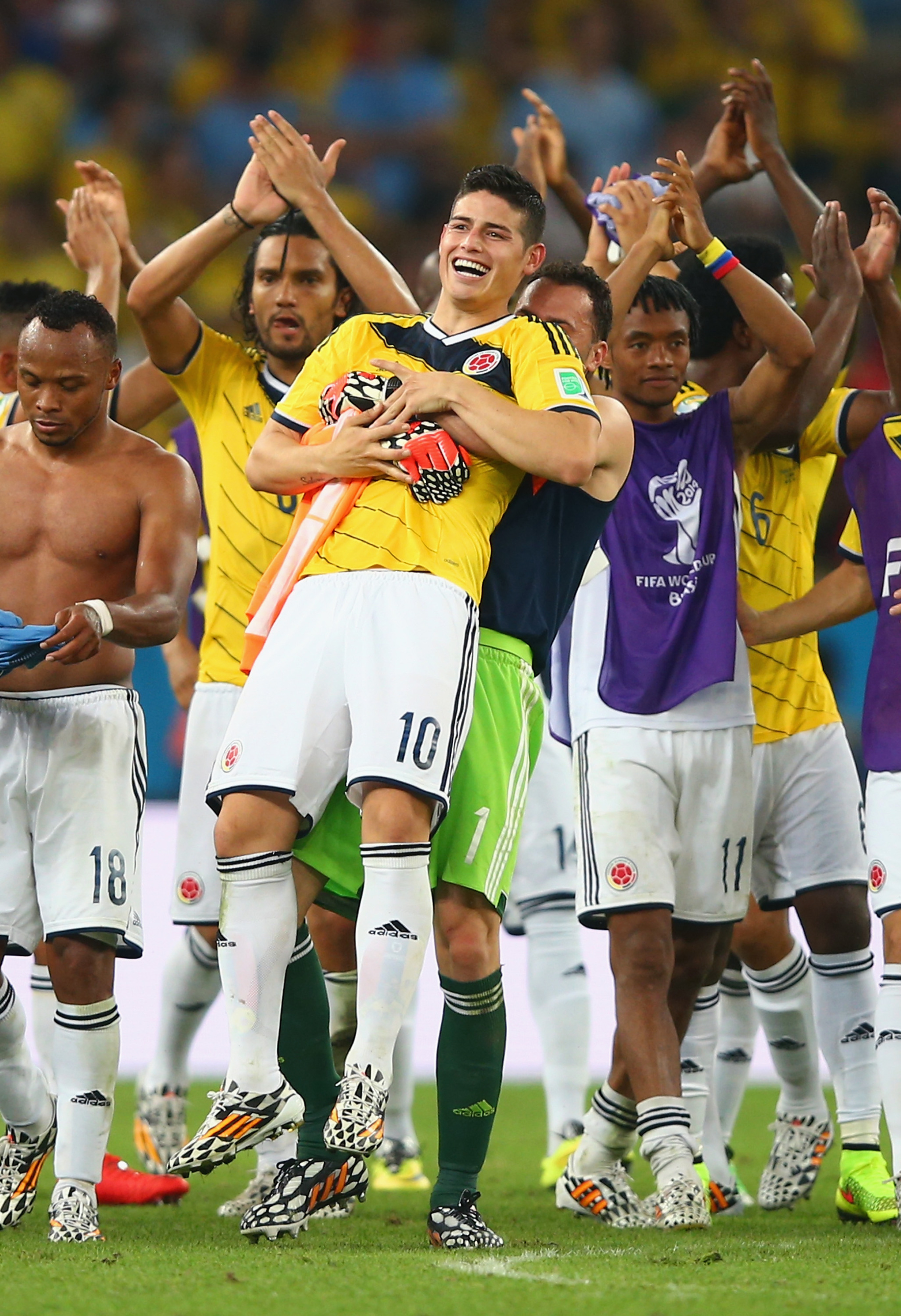 James Rodriguez leads everyone's darlings against the host Brazilians.
