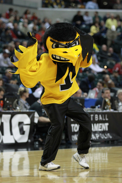Let's be honest: Herky The Hawkeye is kind of weird looking.