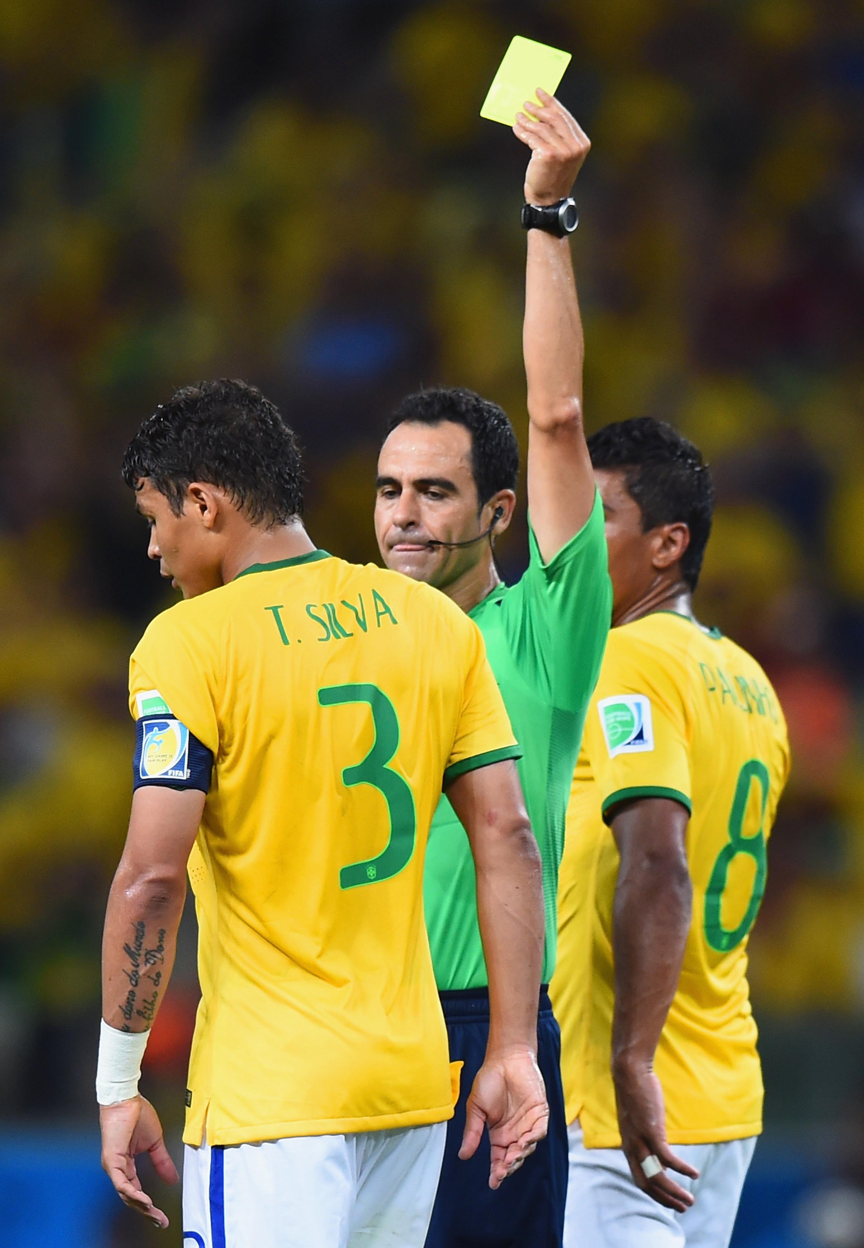 Brazil files appeal over Thiago Silva yellow card, suspension