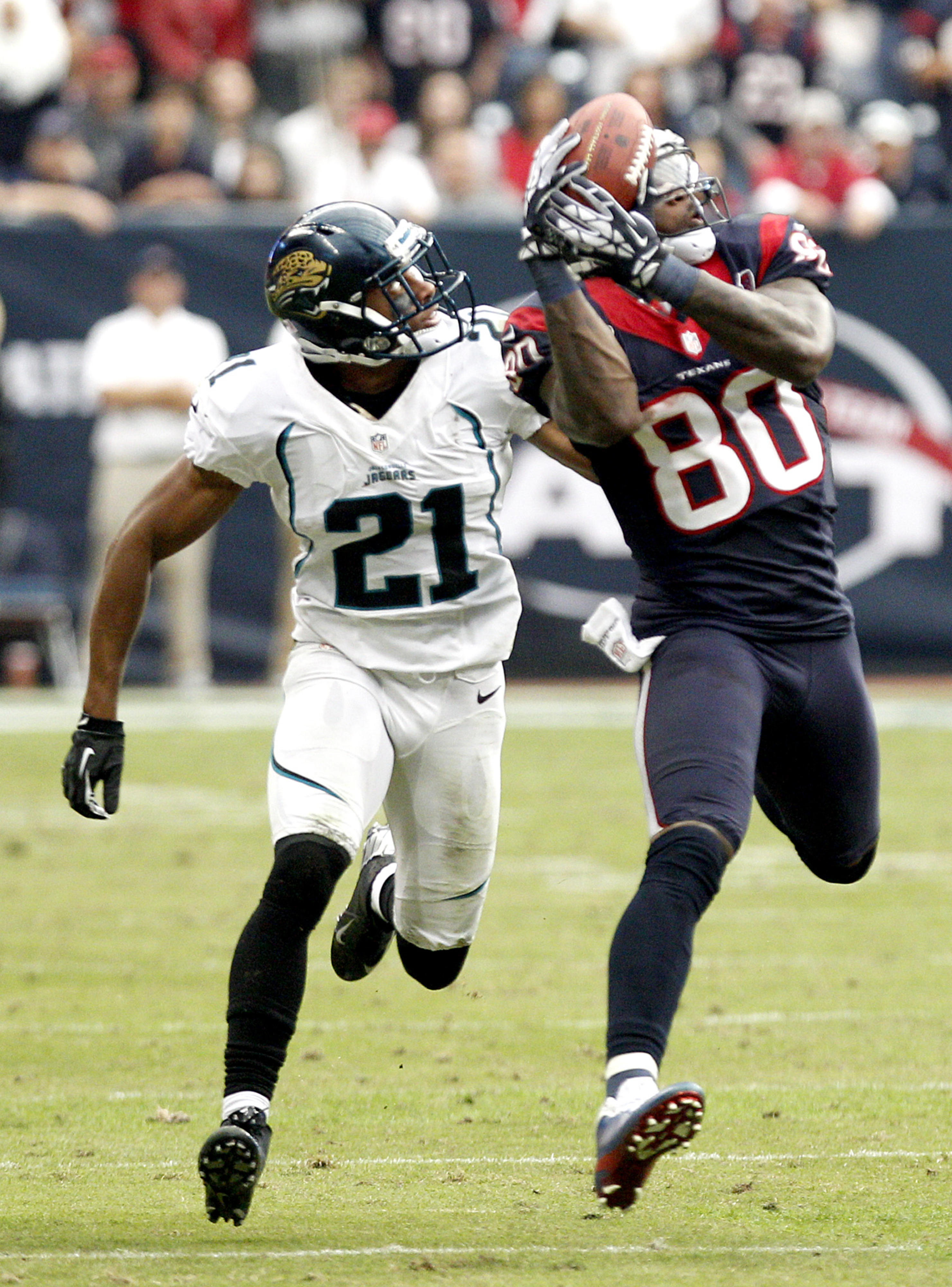 Andre Johnson did this 14 times on Sunday.