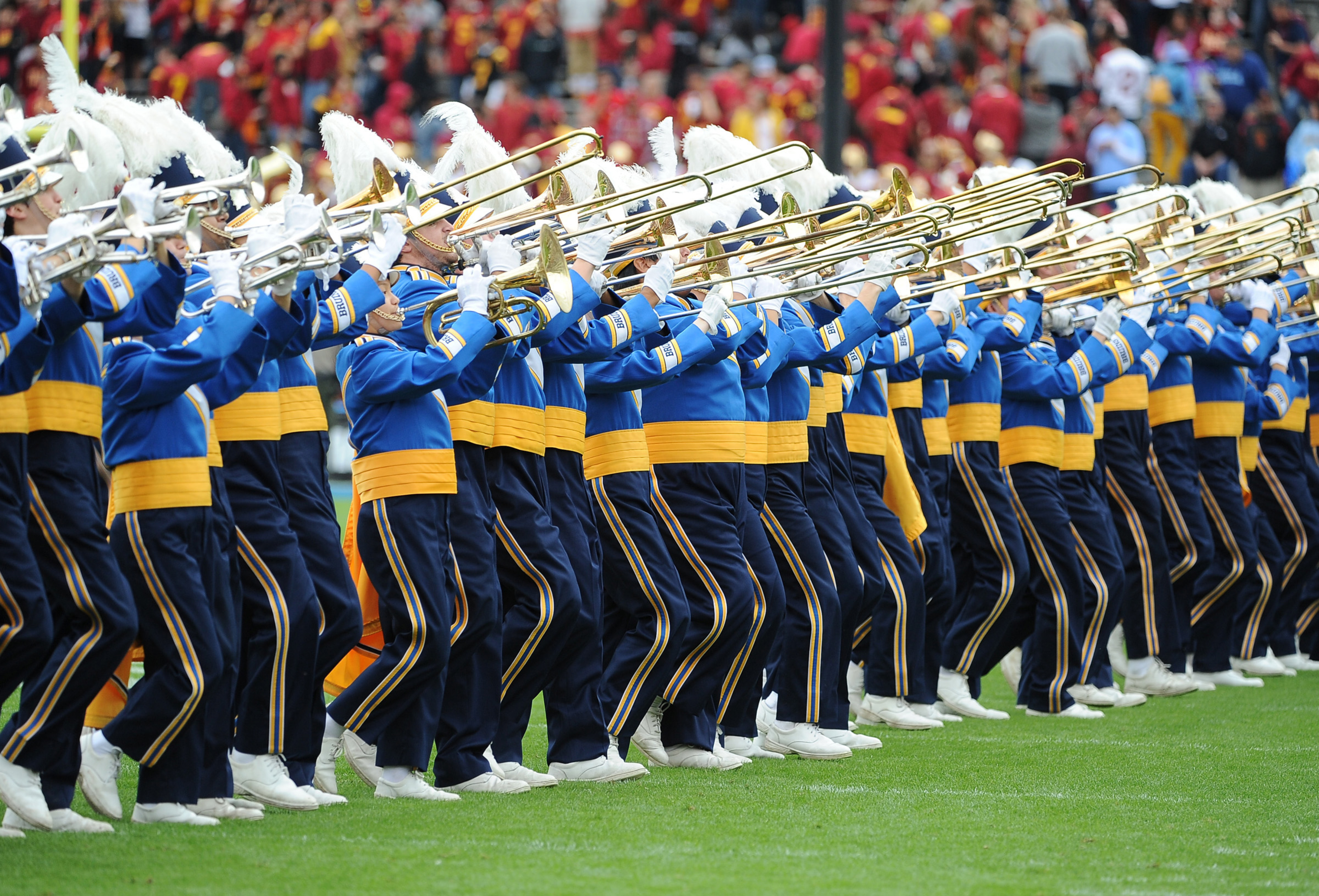 Yes, the best marching band from the West Coast doesn't need some plastic sword planting clown to make awesome music.