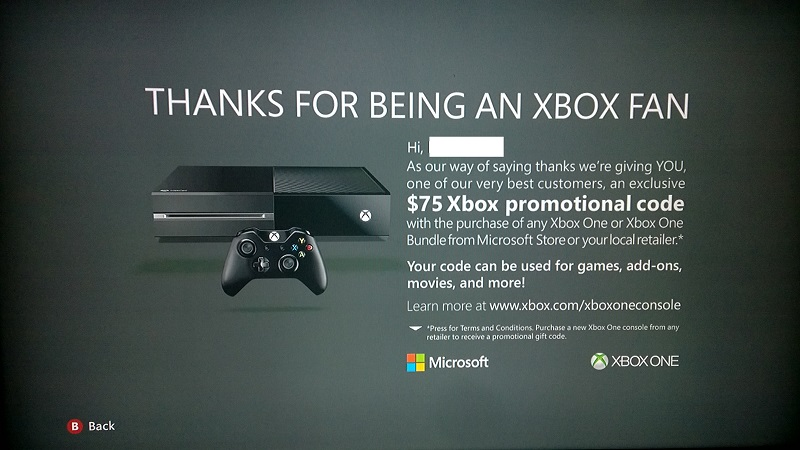 Report: Microsoft is giving away $75 to gamers who upgrade to Xbox One