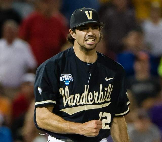 """Adam Ravenelle, who will always be able to say, """"I threw the last pitch of Vanderbilt's first men's national title,"""" presumably to the '07 women's bowling team."""