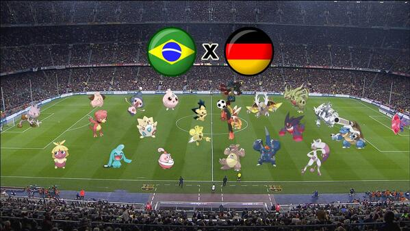 Brazil vs. Germany in the World Cup explained through Pokémon