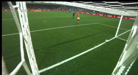 Ron Vlaar's huge missed PK for the Netherlands almost rolled back in