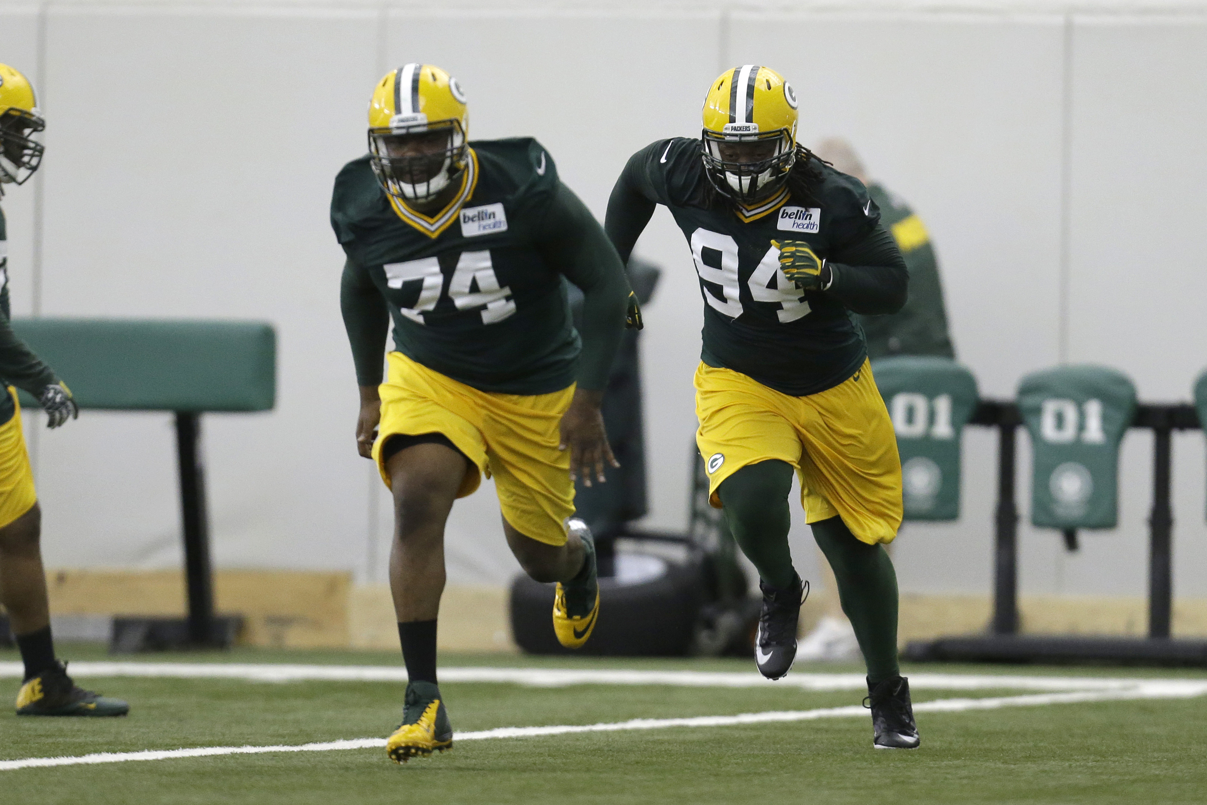 Carlos Gray (left) and Khyri Thornton (right) will fight for roster spots in August.