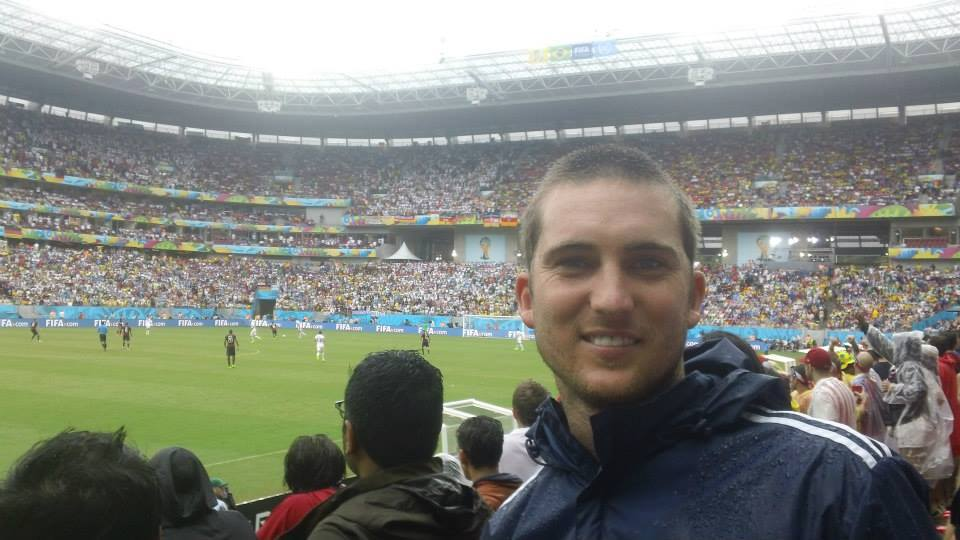 This is the amazing seat Kurt got from Matt Besler for the USA-Germany match in Recife.