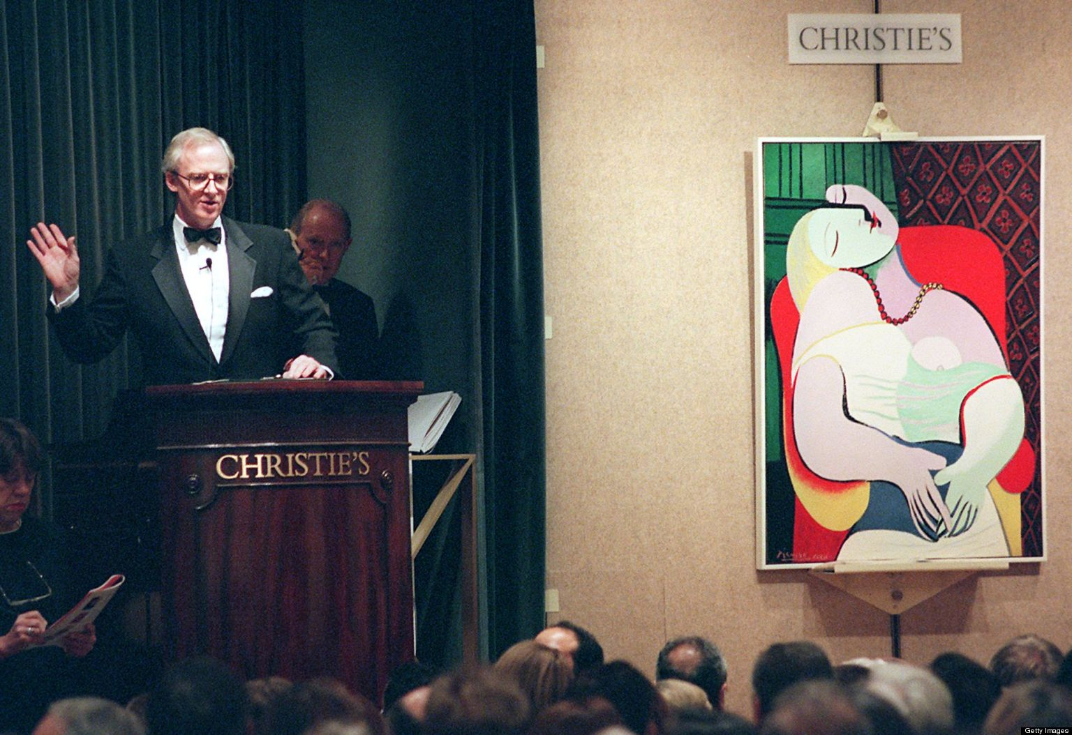 Picasso's Le Rêve at auction in 1997.