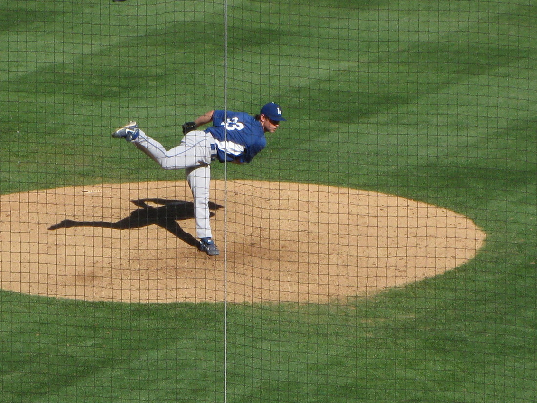 Steven Ames, pitching during spring training at Salt River Fields at Talking Stick in 2012