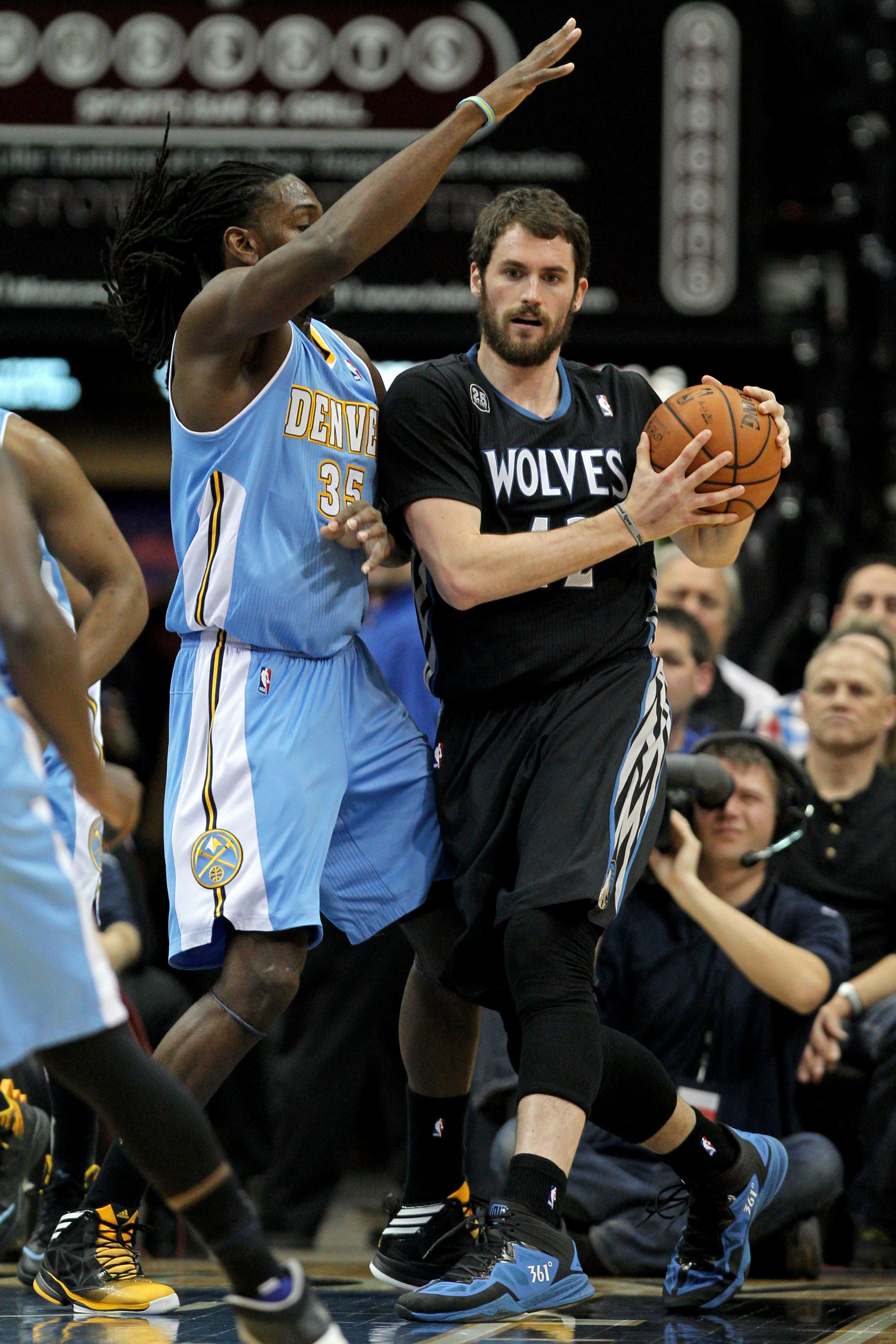 Kenneth Faried and Kevin Love