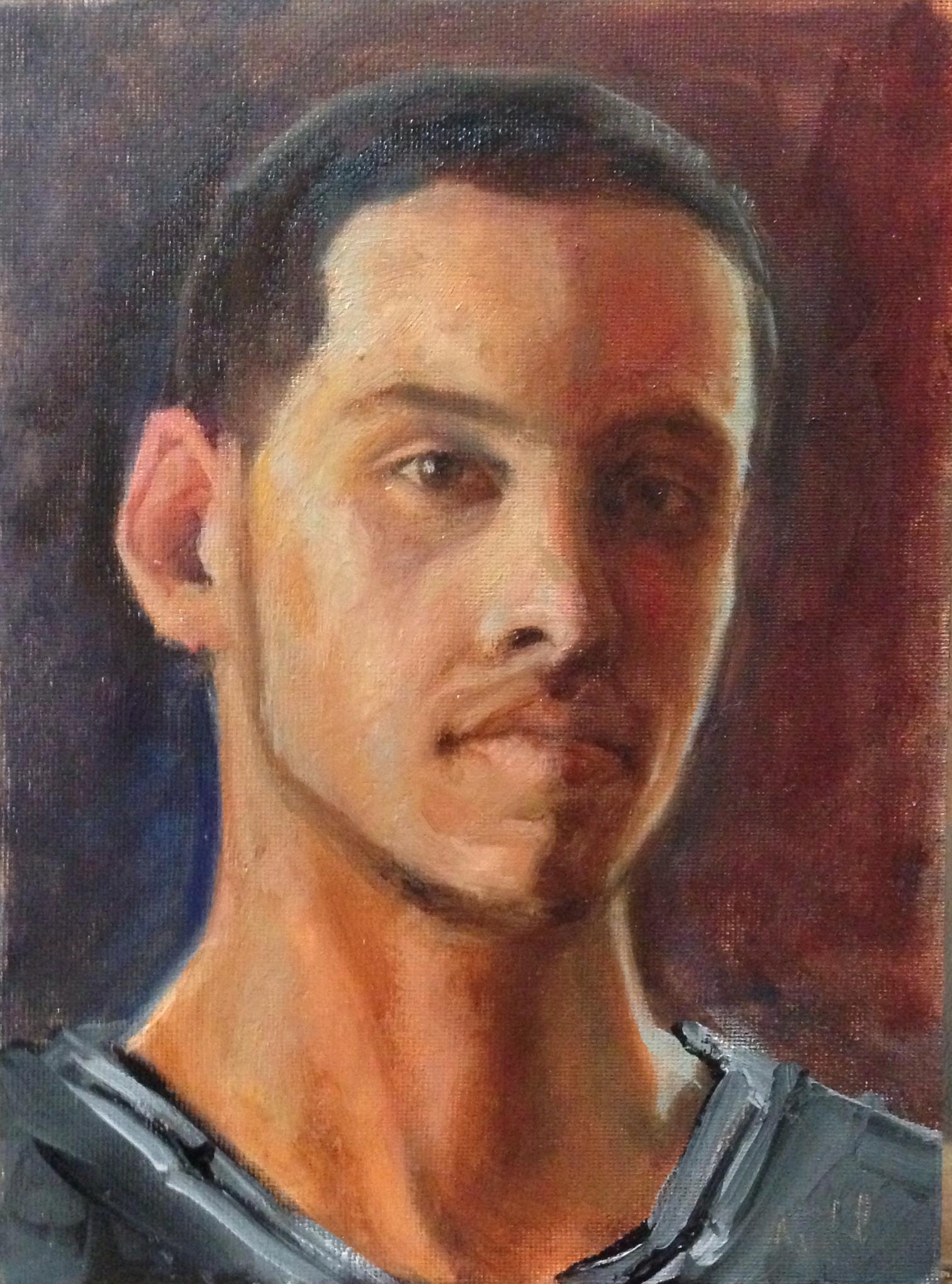 Austin Daye - oil on canvas by Michal Dye