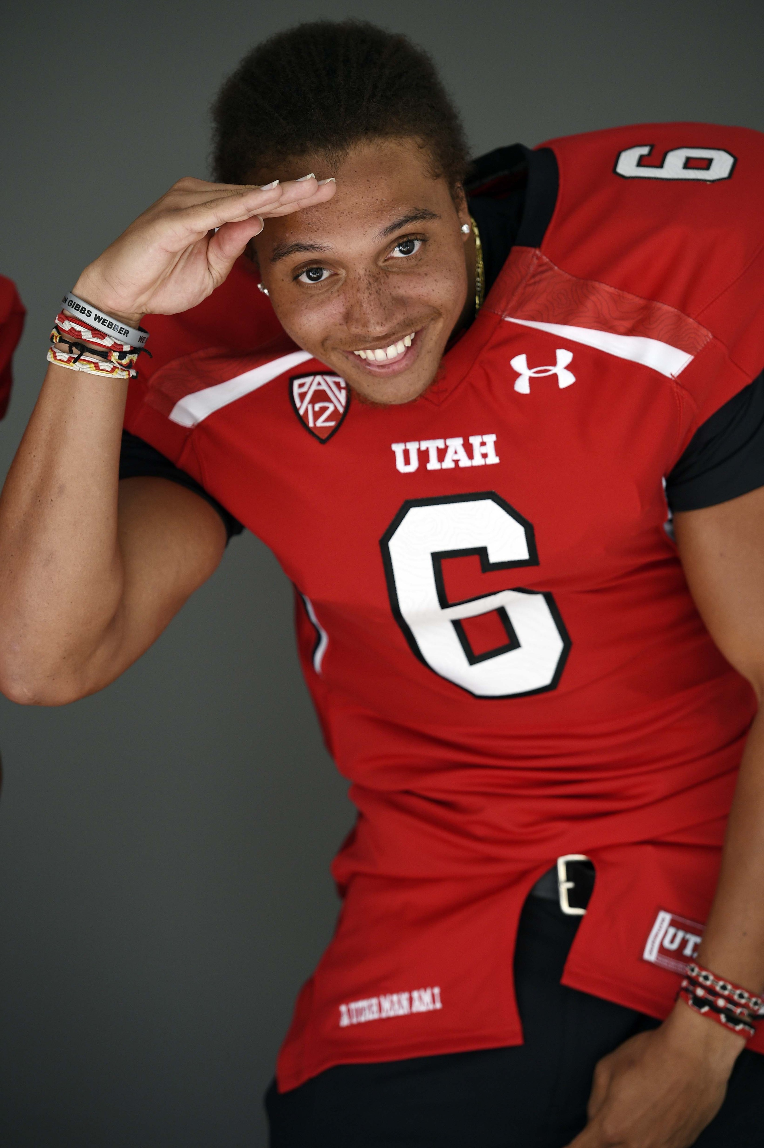 As usual, Utah wide receiver Dres Anderson was all smiles at Pac-12 media, yet the media picked his Utes fifth in the South division.