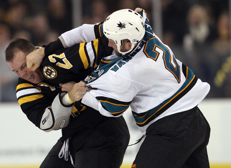 The guy feeding the Bruin wants to be a Canuck