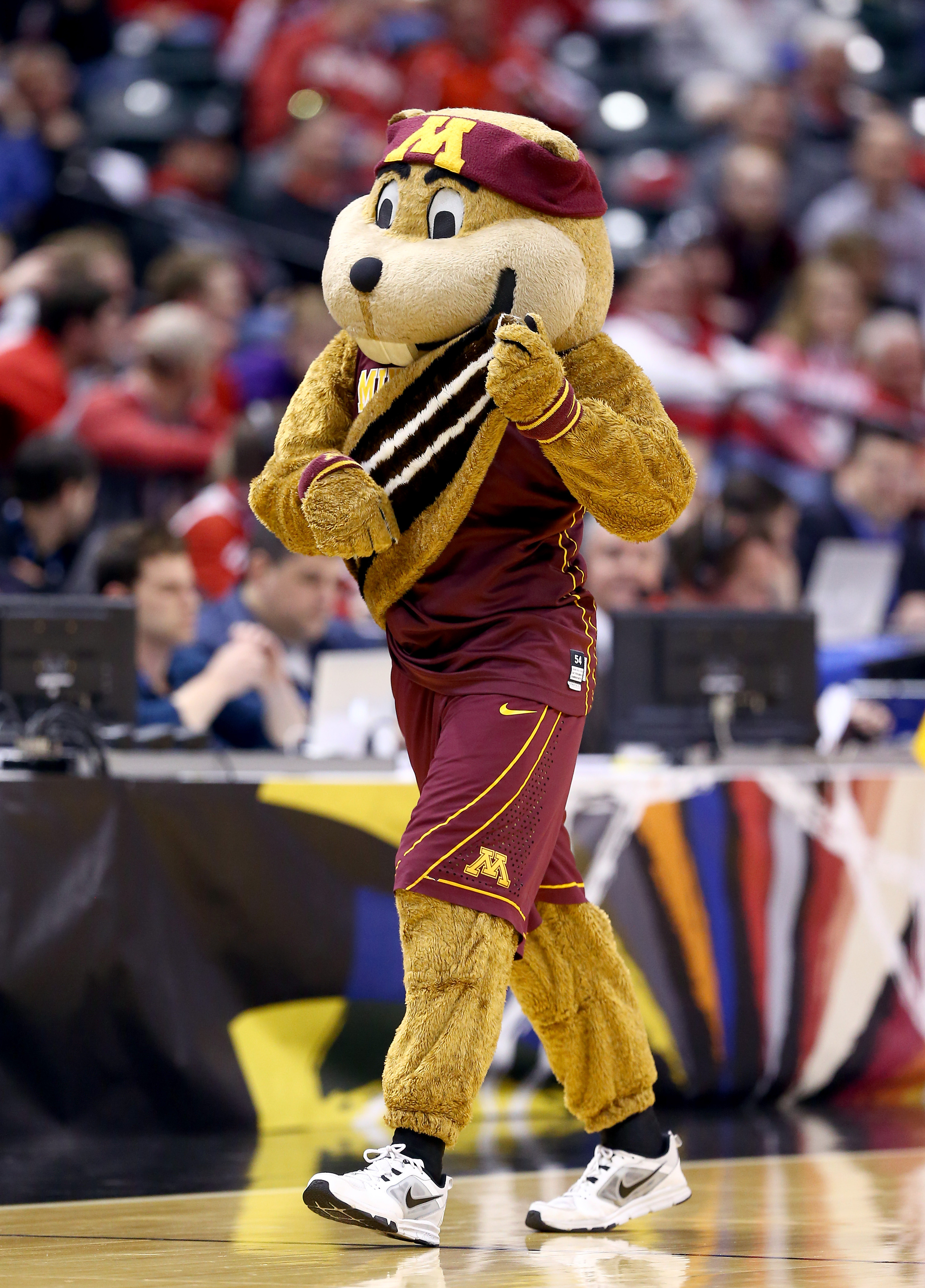 Is Goldy The Gopher playing a lute?  Wait.  IS THAT HIS TAIL?