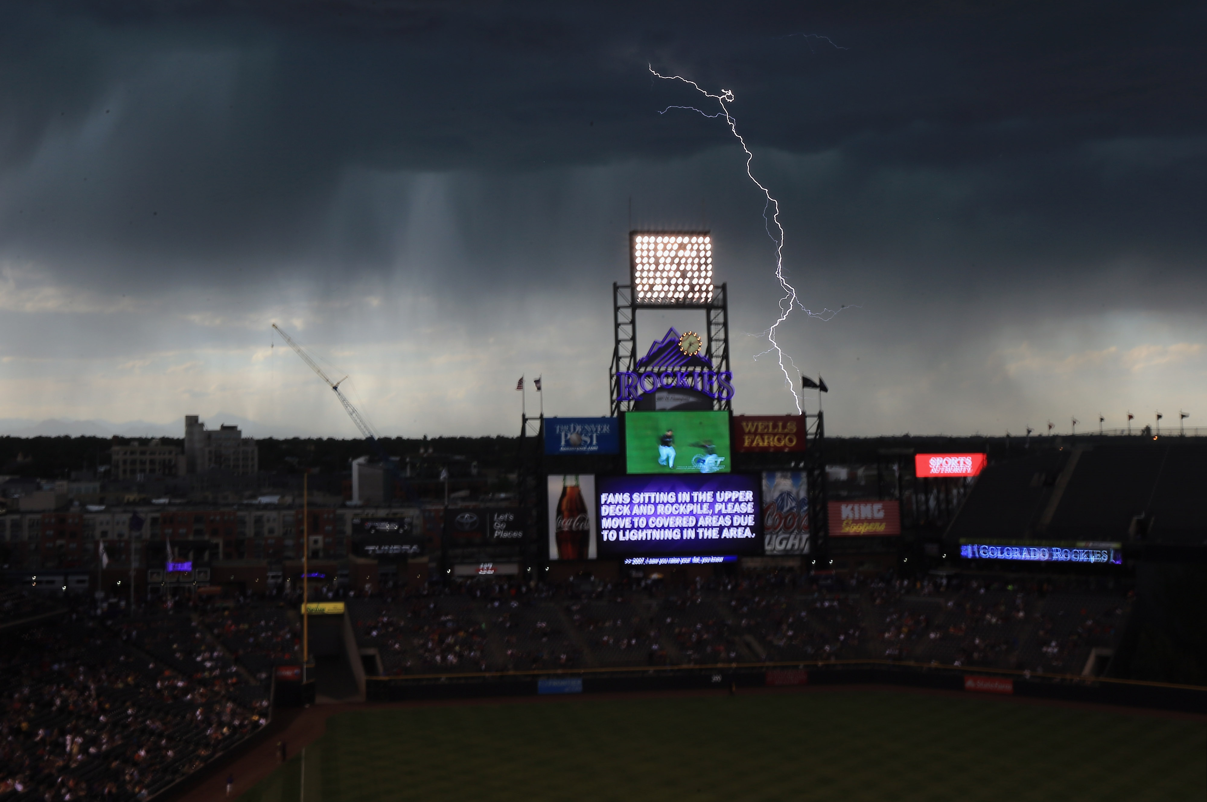 Lightning was the story of the day at One Buc Place.