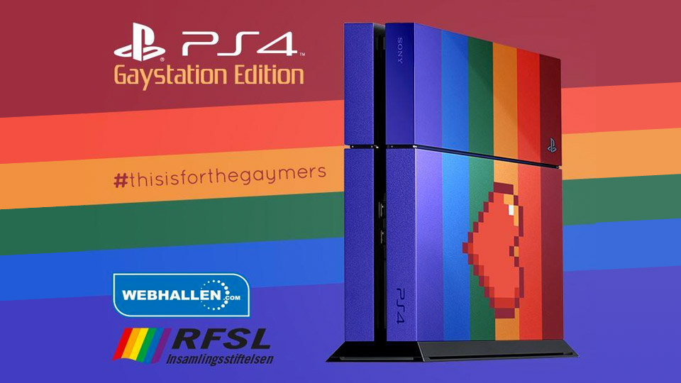 Custom rainbow 'Gaystation' is being auctioned to support an LGBTQ network