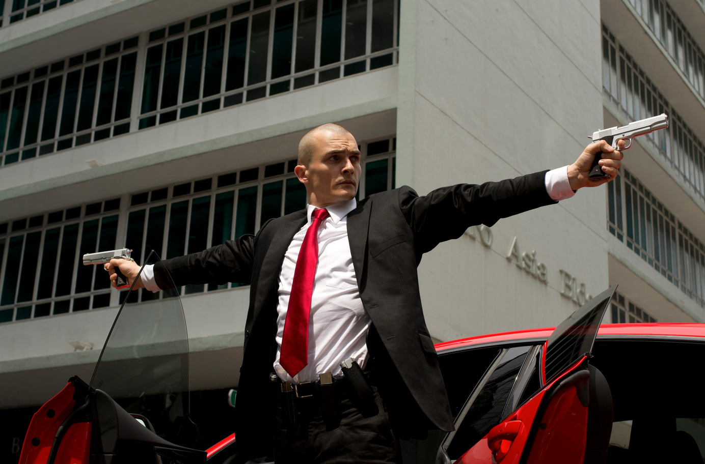 Here's a first look at Agent 47 in the upcoming movie 'Hitman: Agent 47'
