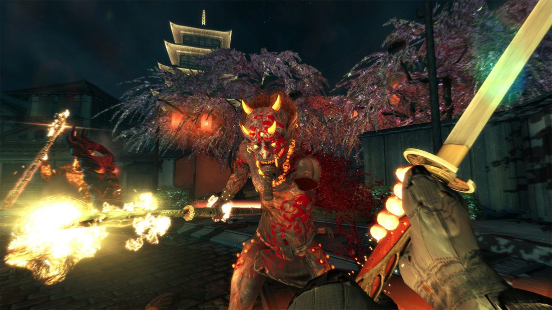 Shadow Warrior takes Hotline Miami references to Europe in this exclusive content on Sept. 26