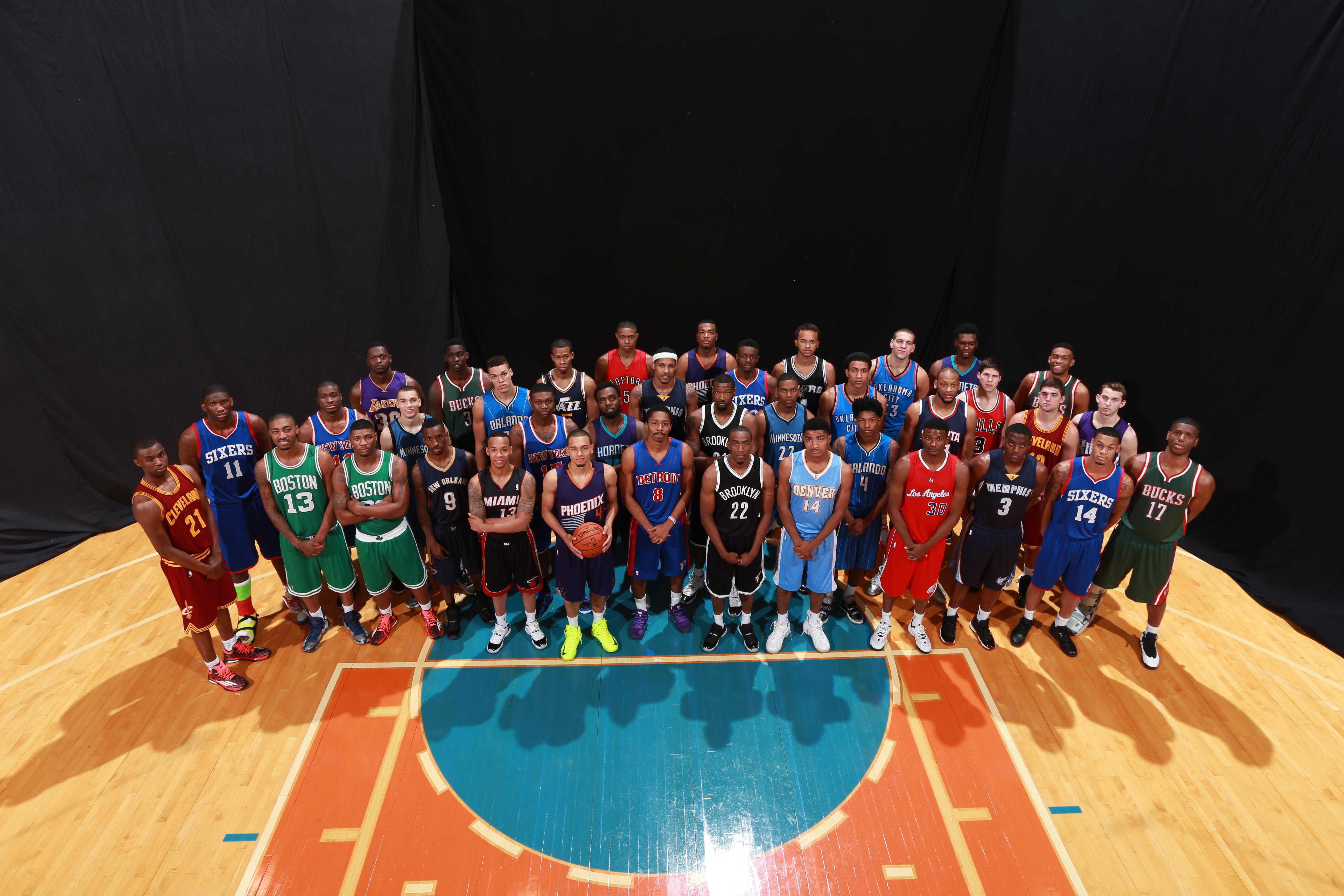NBA rookie photo shoot face superlatives