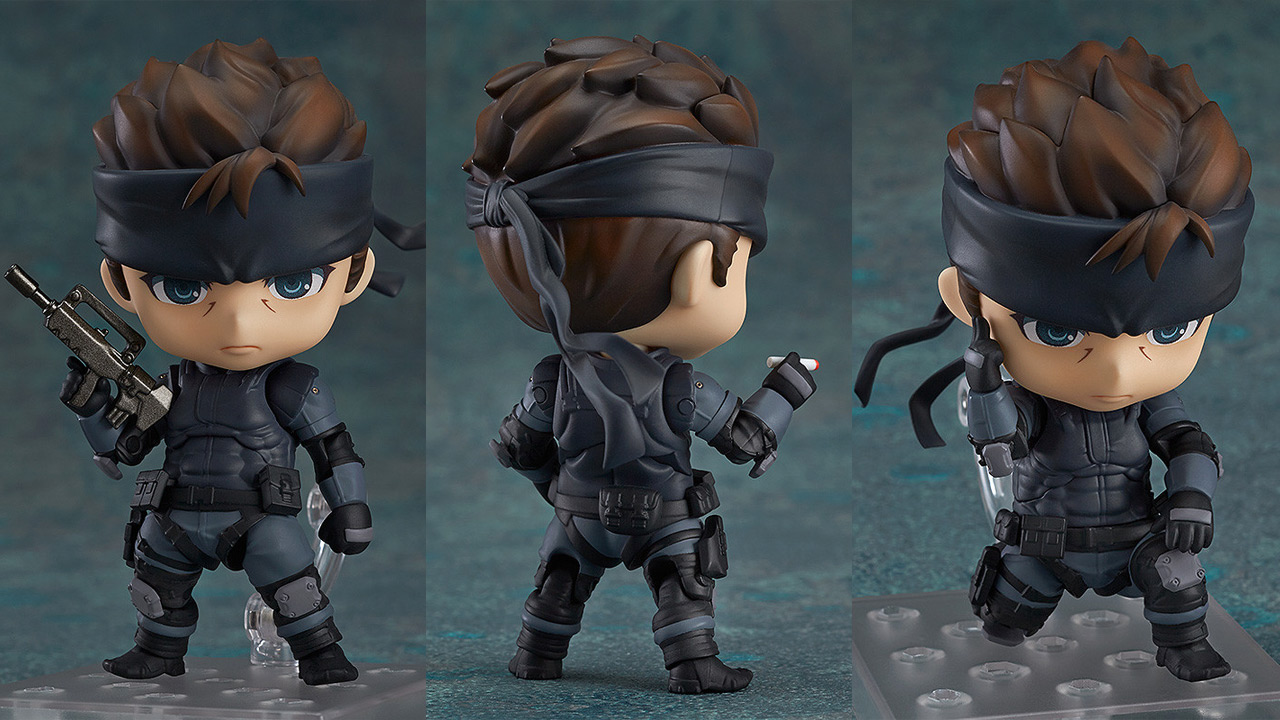 You can pre-order the cutest Solid Snake action figure right now