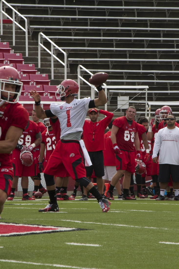 Utah QB Kendal Thompson is in the running for the starting QB position at Utah.