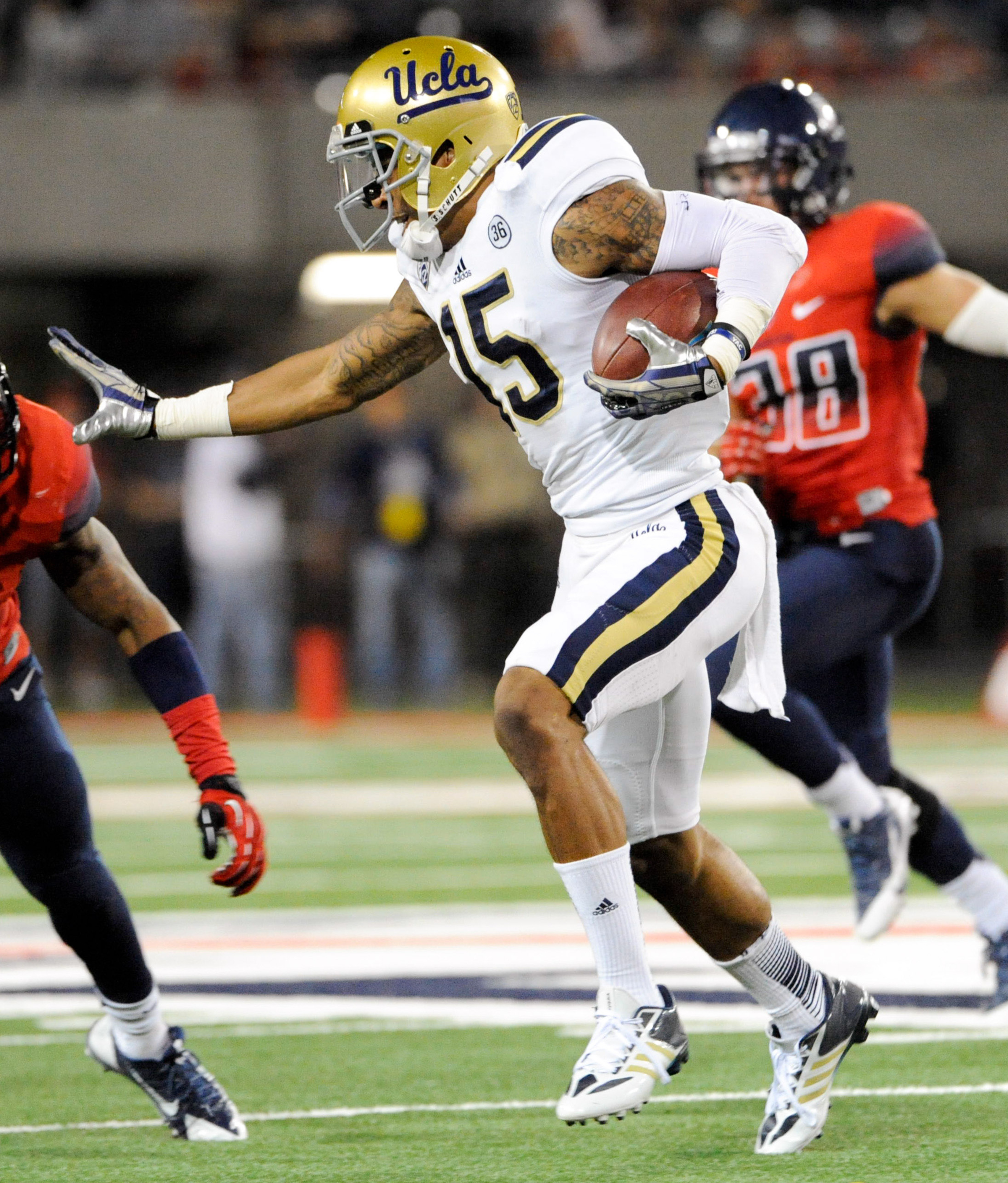 Devin Lucien leads a deep group of receivers for the UCLA Bruins.