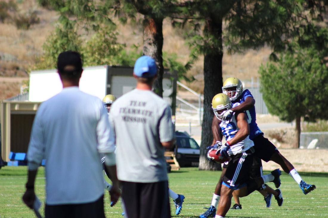 Nice D!  Nice catch! Fabian Moreau on Eldridge Massington