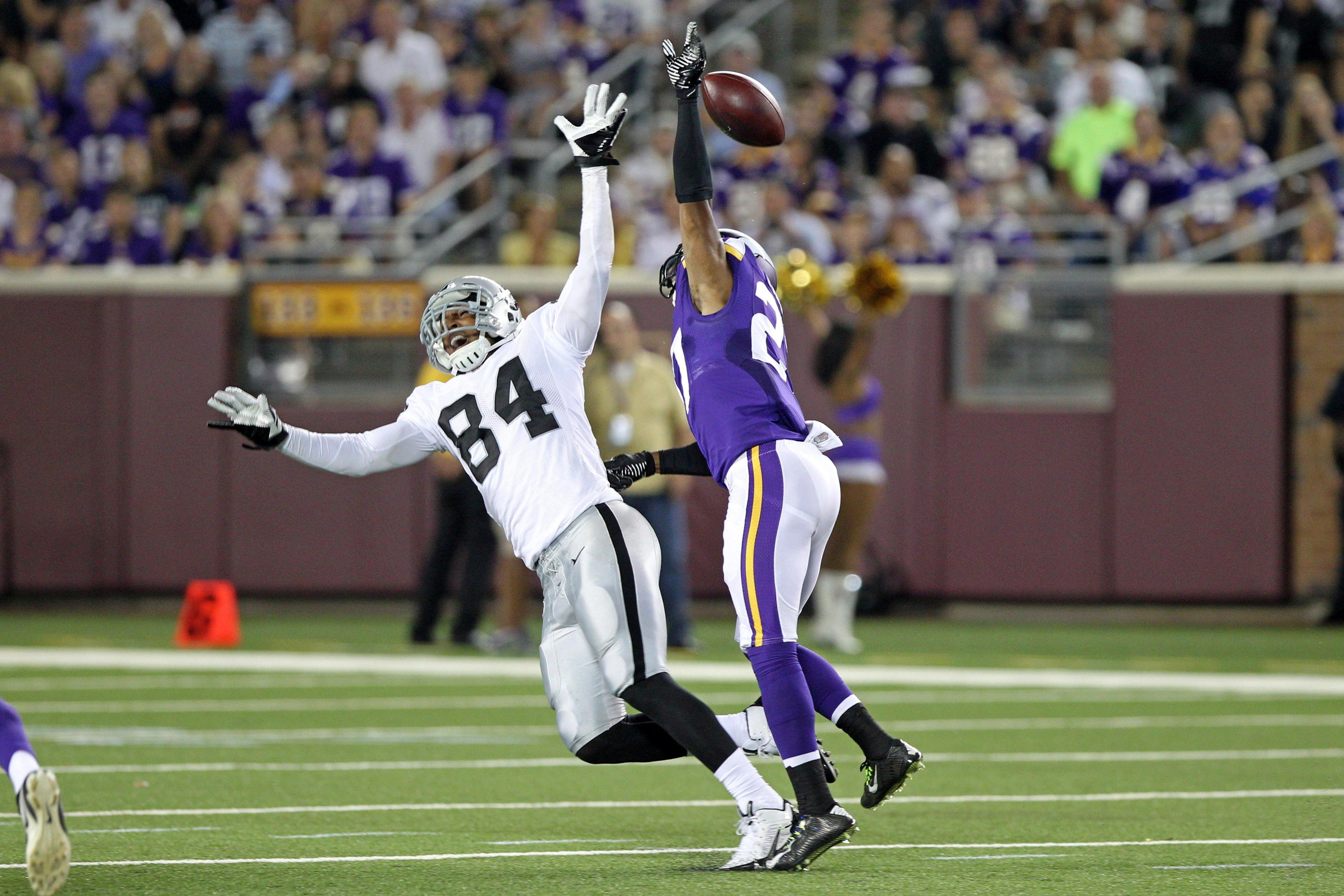 This is a Vikings defensive back breaking up a pass. WHAT IS THIS EVIL WIZARDRY AND WILL IT CONTINUE?