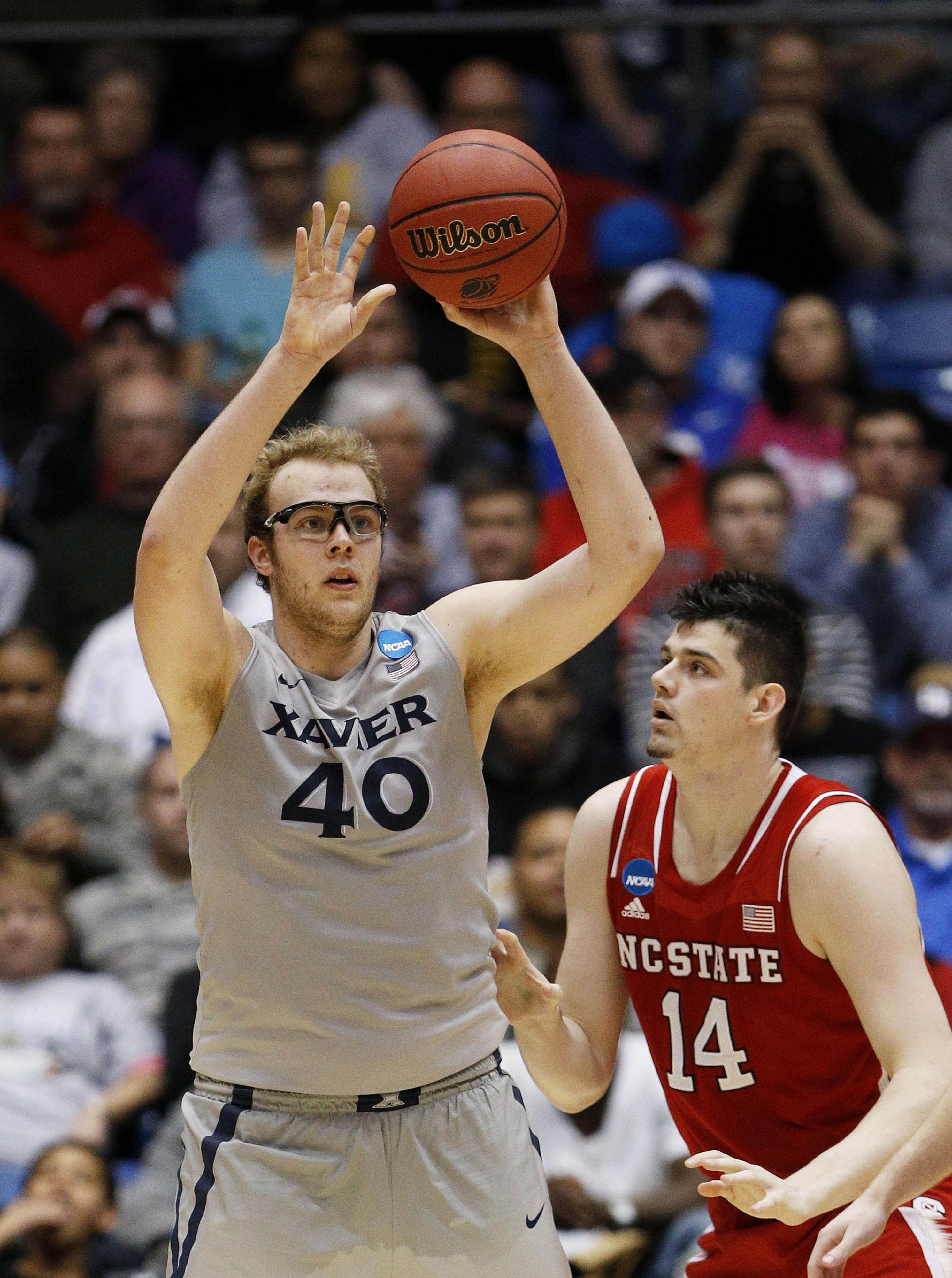 Matt Stainbrook was back in action for the first time since this picture was taken.