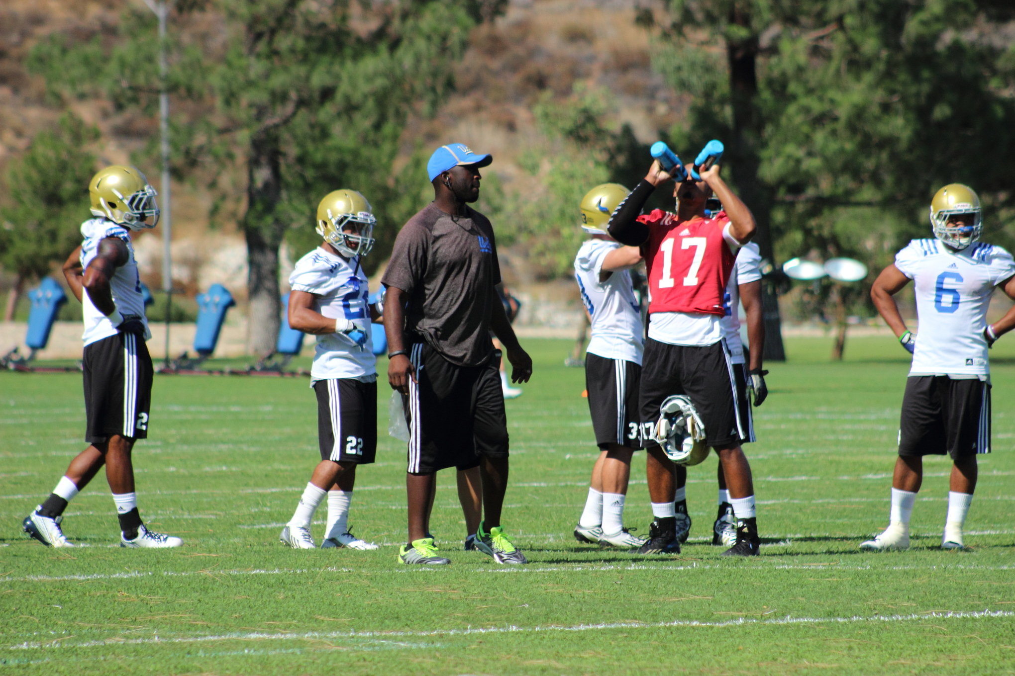Brett Hundley re-hydrating a few days ago. Players will be doing a lot of that today.