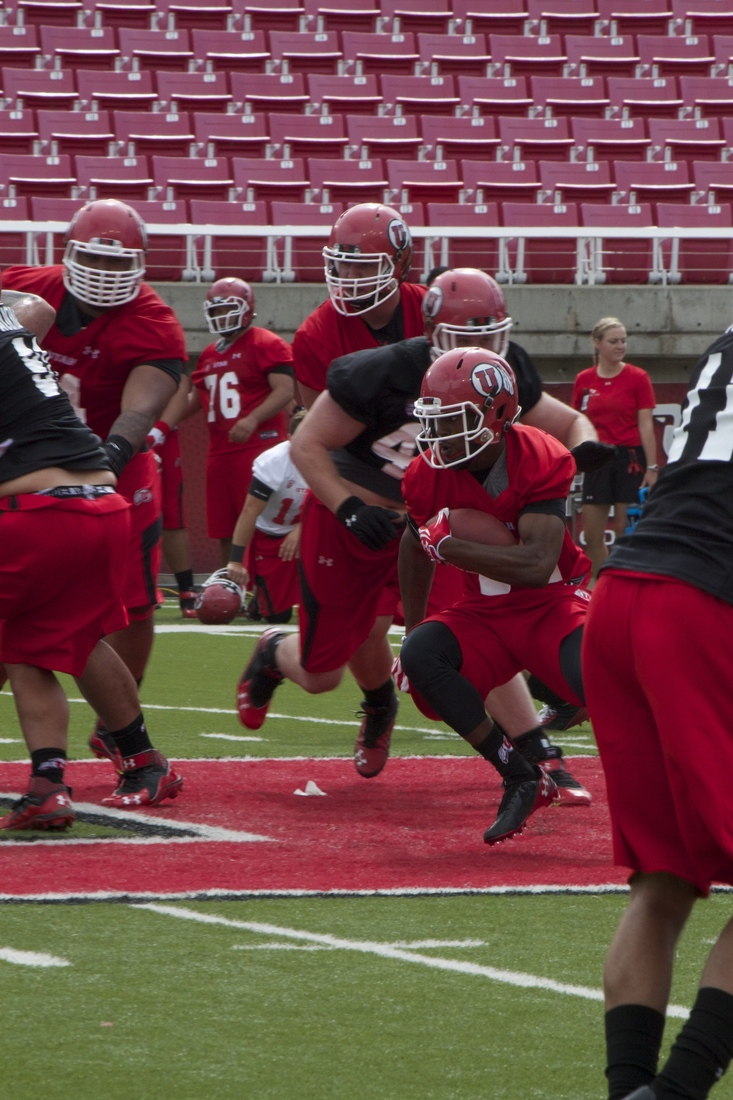 The running backs continue to look strong in fall camp.