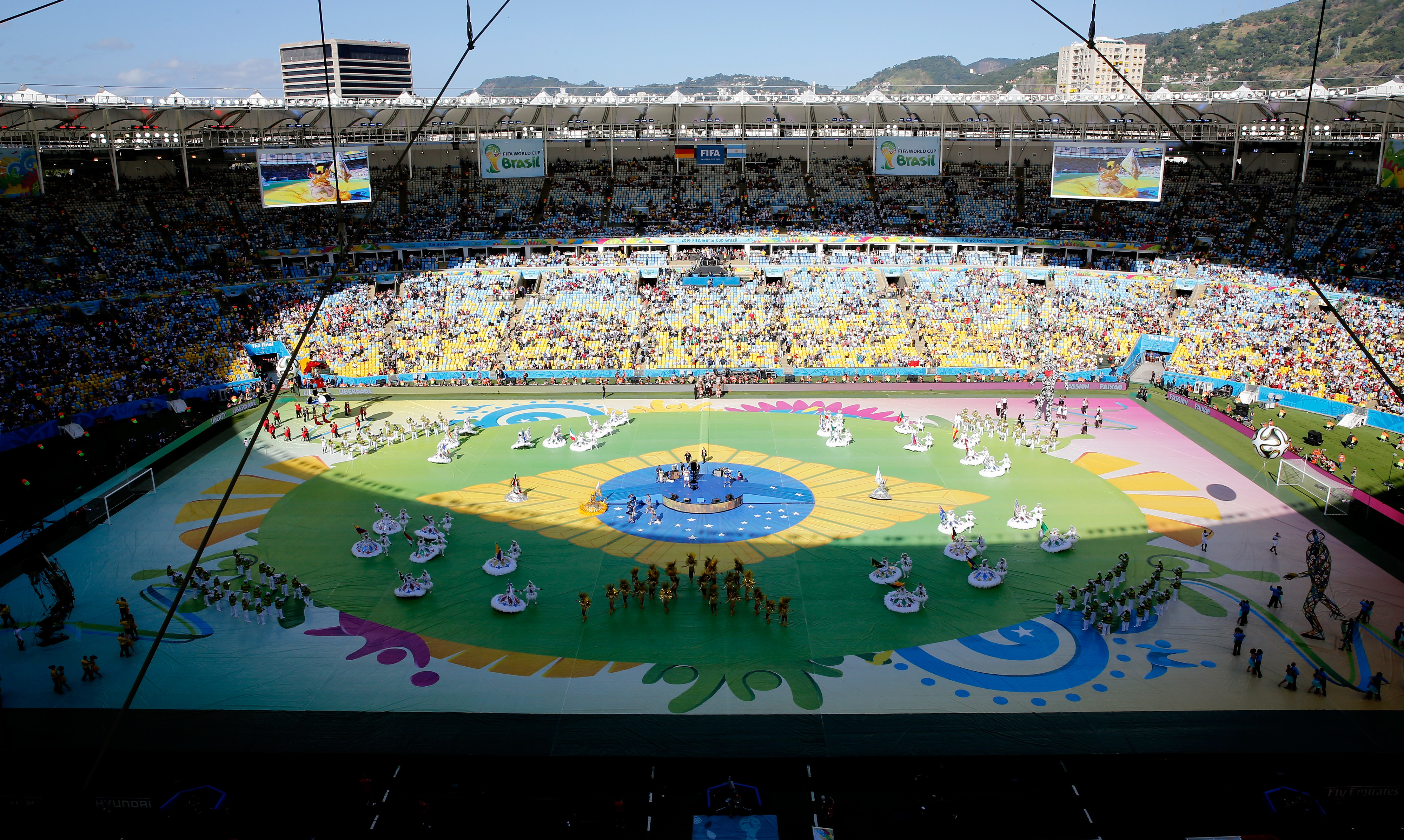The historic Maracana was one of the places Xavier visited on their trip to Brazil.